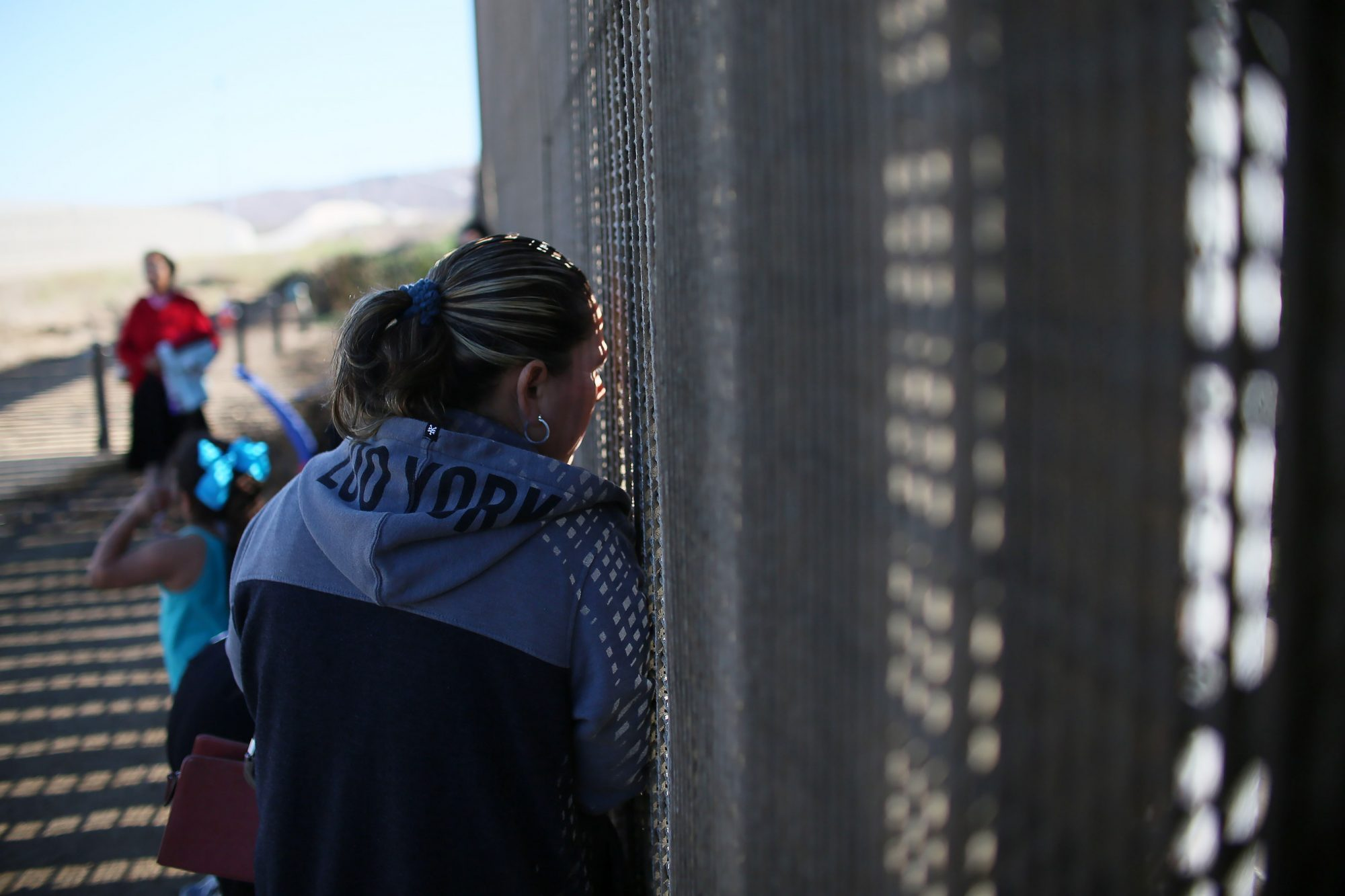 Park On U.S. - Mexican Border Opens Border Fence For Families And Friends To Visit Each Other