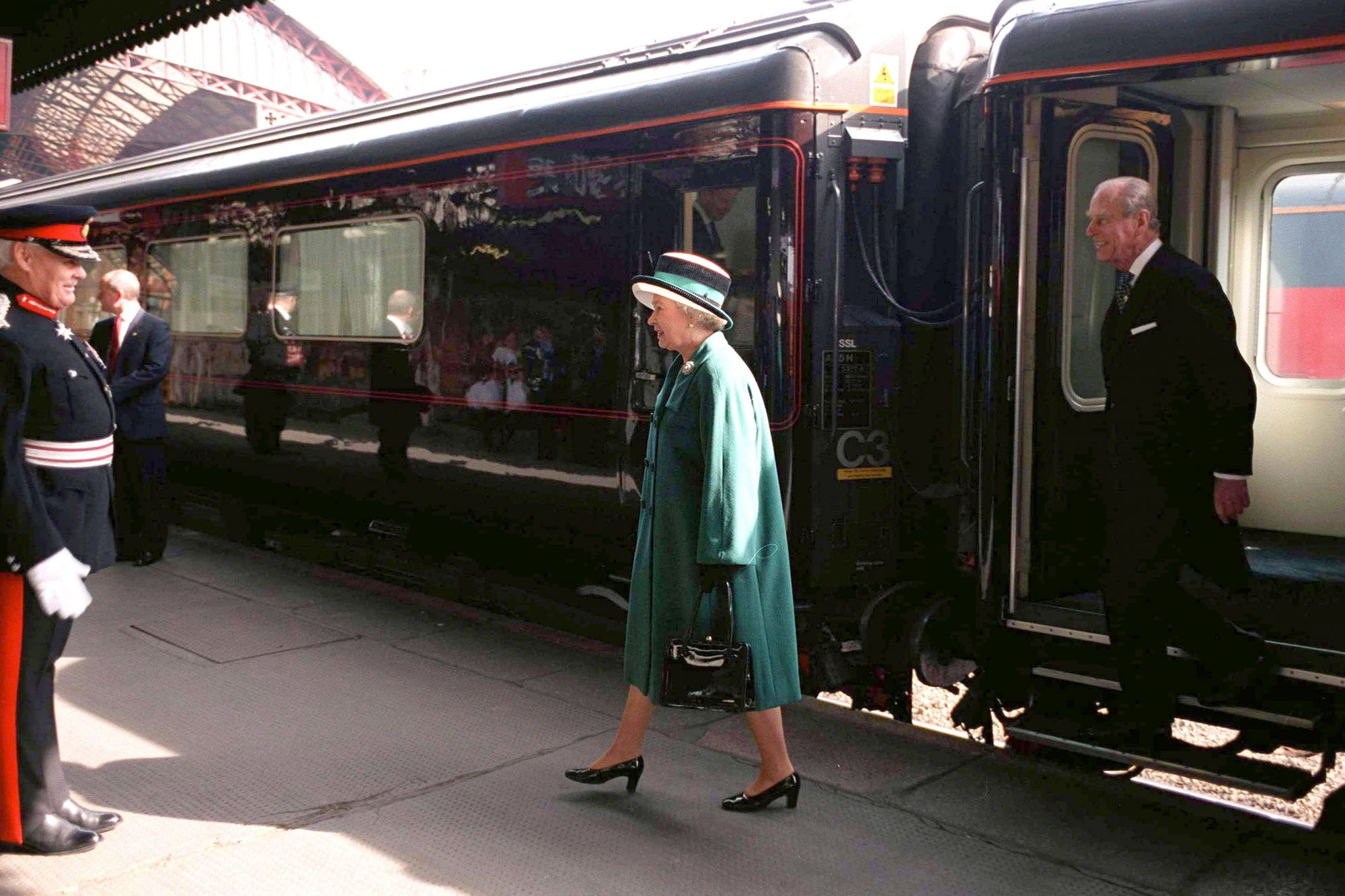 Queen And Prince Philip Royal Train