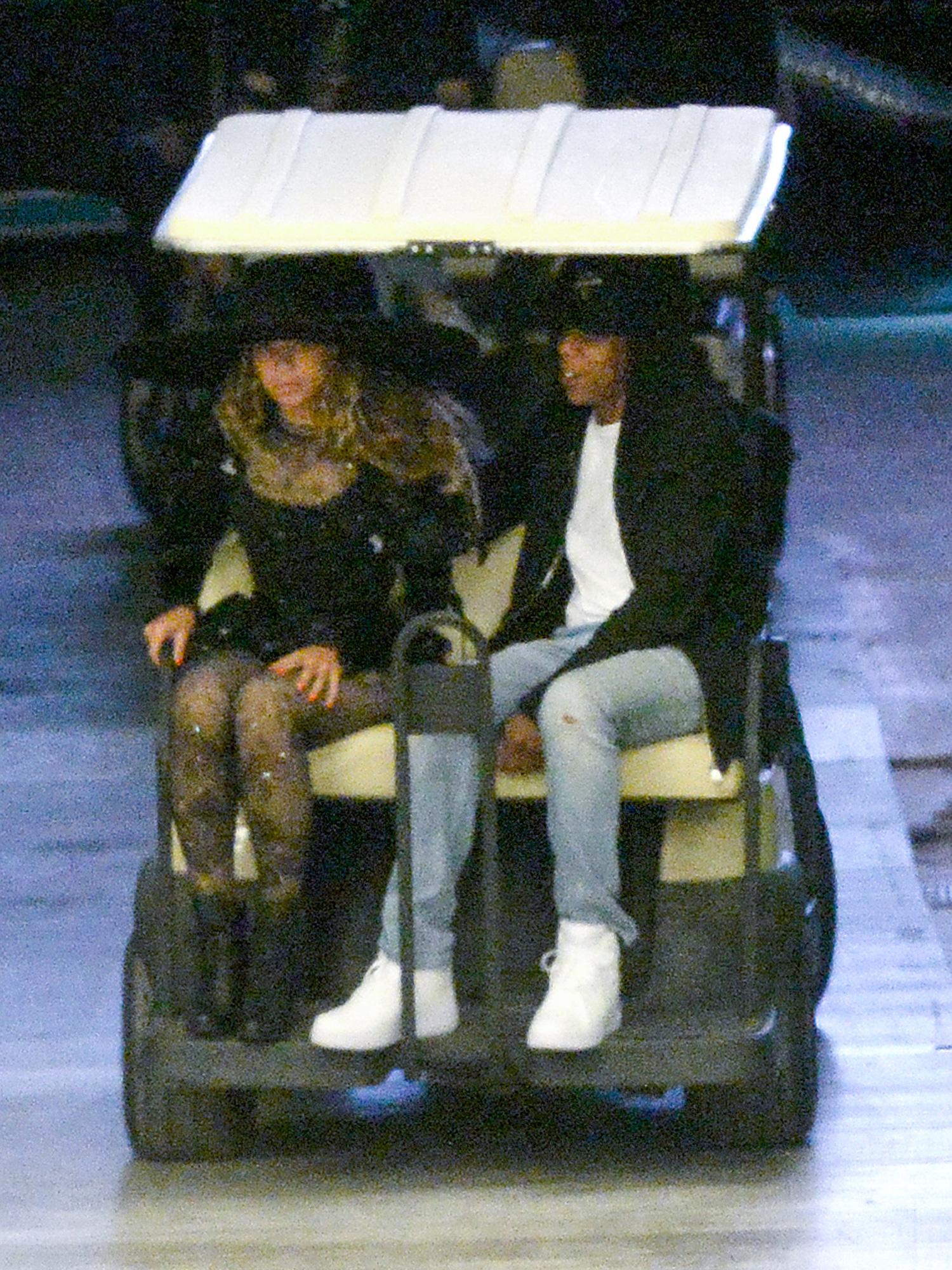 EXCLUSIVE TO INF. April 26, 2016: Jay-Z and Beyonce put on a a show of unity, amid reports of his infidelity to her, as they are photographed together during rehearsals for her upcoming tour. Beyonce and Jay-Z ride together on a golf cart during rehearsals for the first show of The Formation World Tour at Marlins Park in Miami, Florida. Beyonce's mother Tina Knowles is seen on the first golf cart. Beyonce arrived at 11am and continued rehearsing for over 14 hours, past 2am. Jay Z arrived separately at 4pm and left at midnight. Mandatory Credit: INFphoto.com Ref: infusmi-24