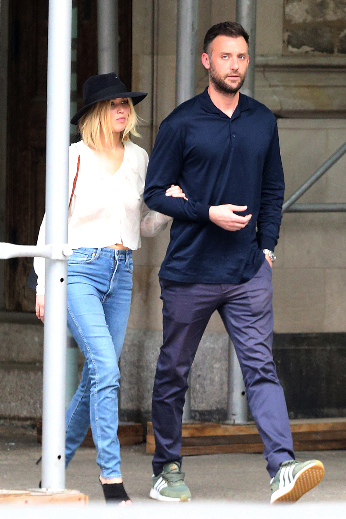 EXCLUSIVE: Jennifer Lawrence Walks Arm in Arm with Cooke Maroney in New York City.