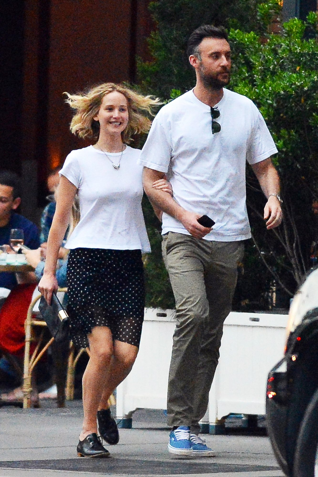 PREMIUM EXCLUSIVE: Jennifer Lawrence Walks Arm in Arm With New Boyfriend Cooke Maroney in New York City
