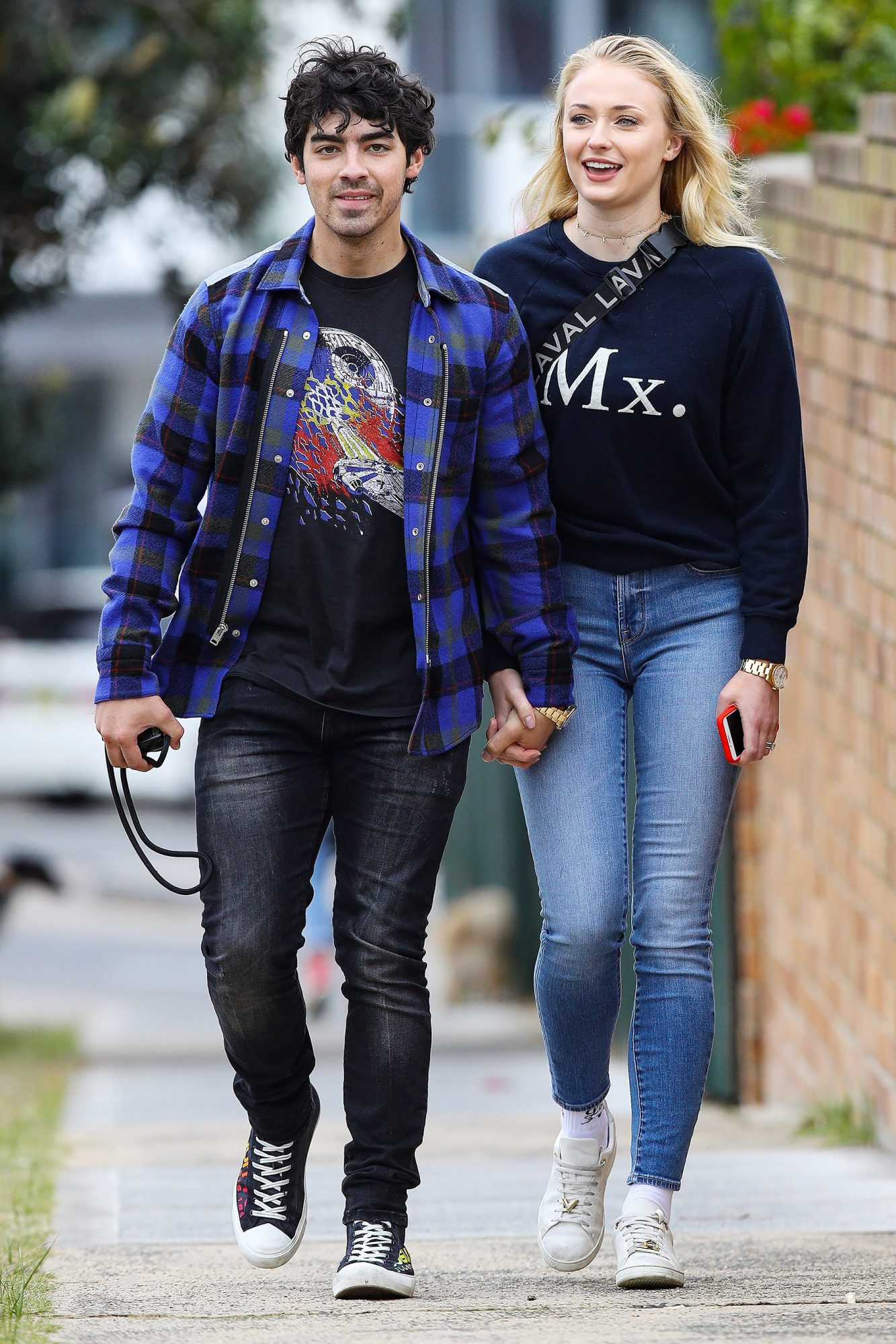 EXCLUSIVE: Loved up couple Joe Jonas and Sophie Turner pictured in Sydney walking hand in hand.