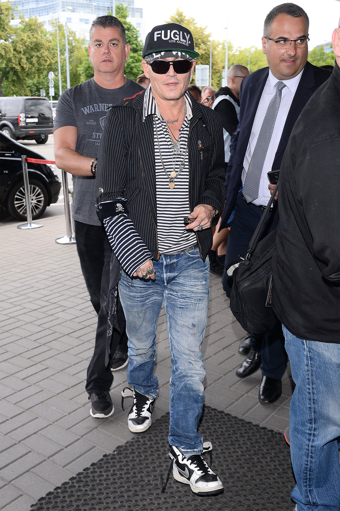 Johnny Depp Seen Arriving At The Airport In Warsaw