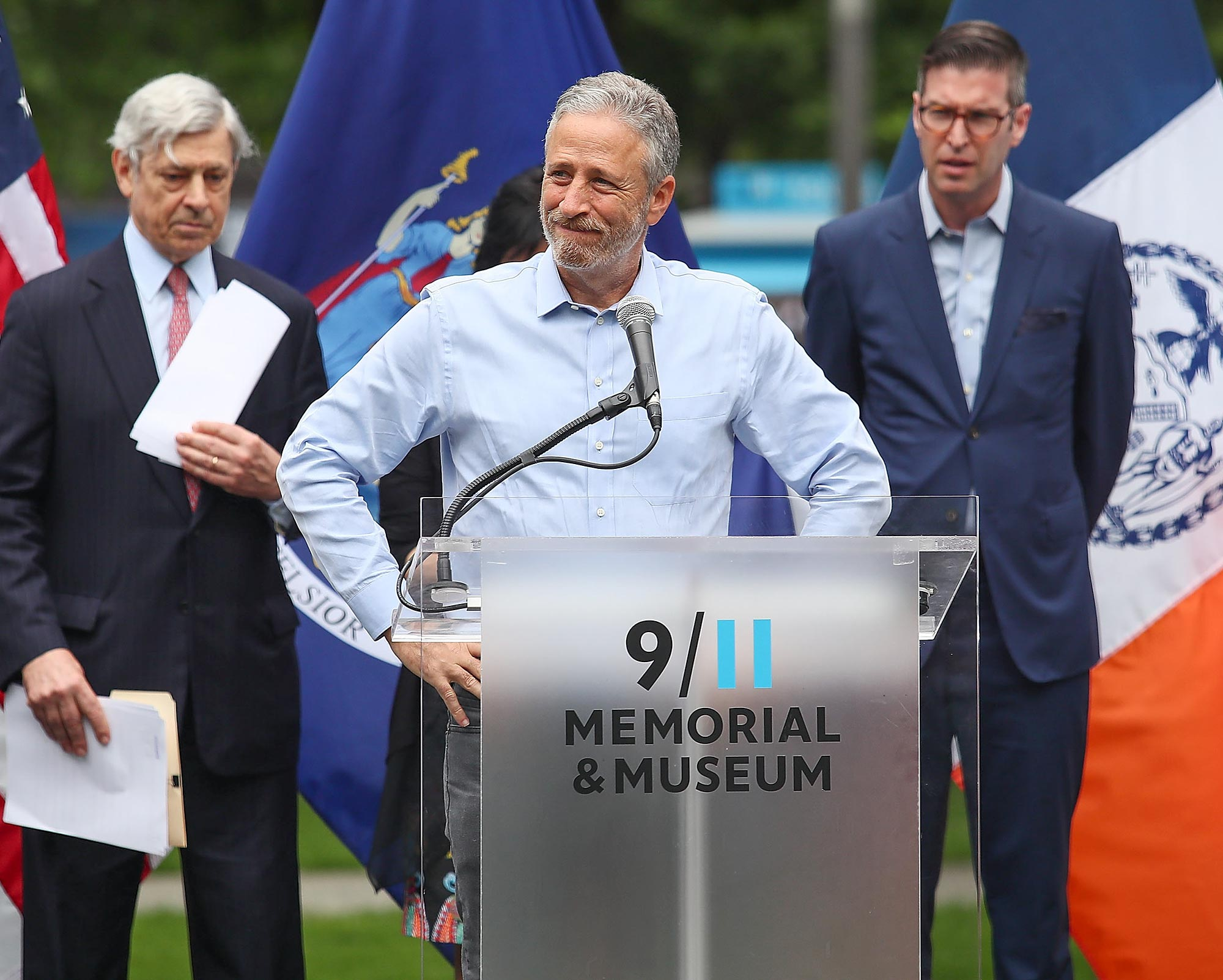Design Unveiling Of 9/11 Memorial To Honor Rescue Workers