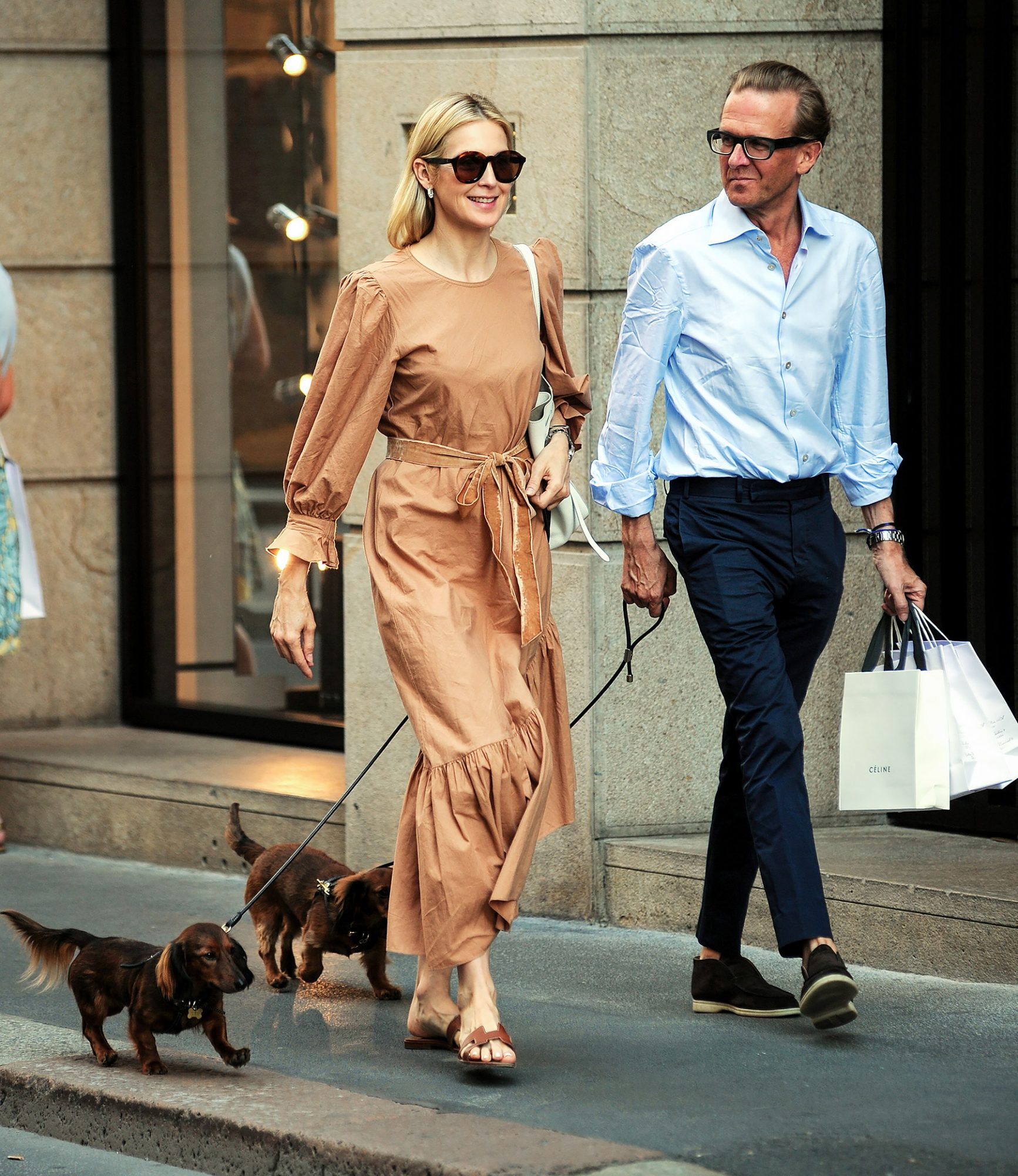 Actress Kelly Rutherford Seen Out In Milan