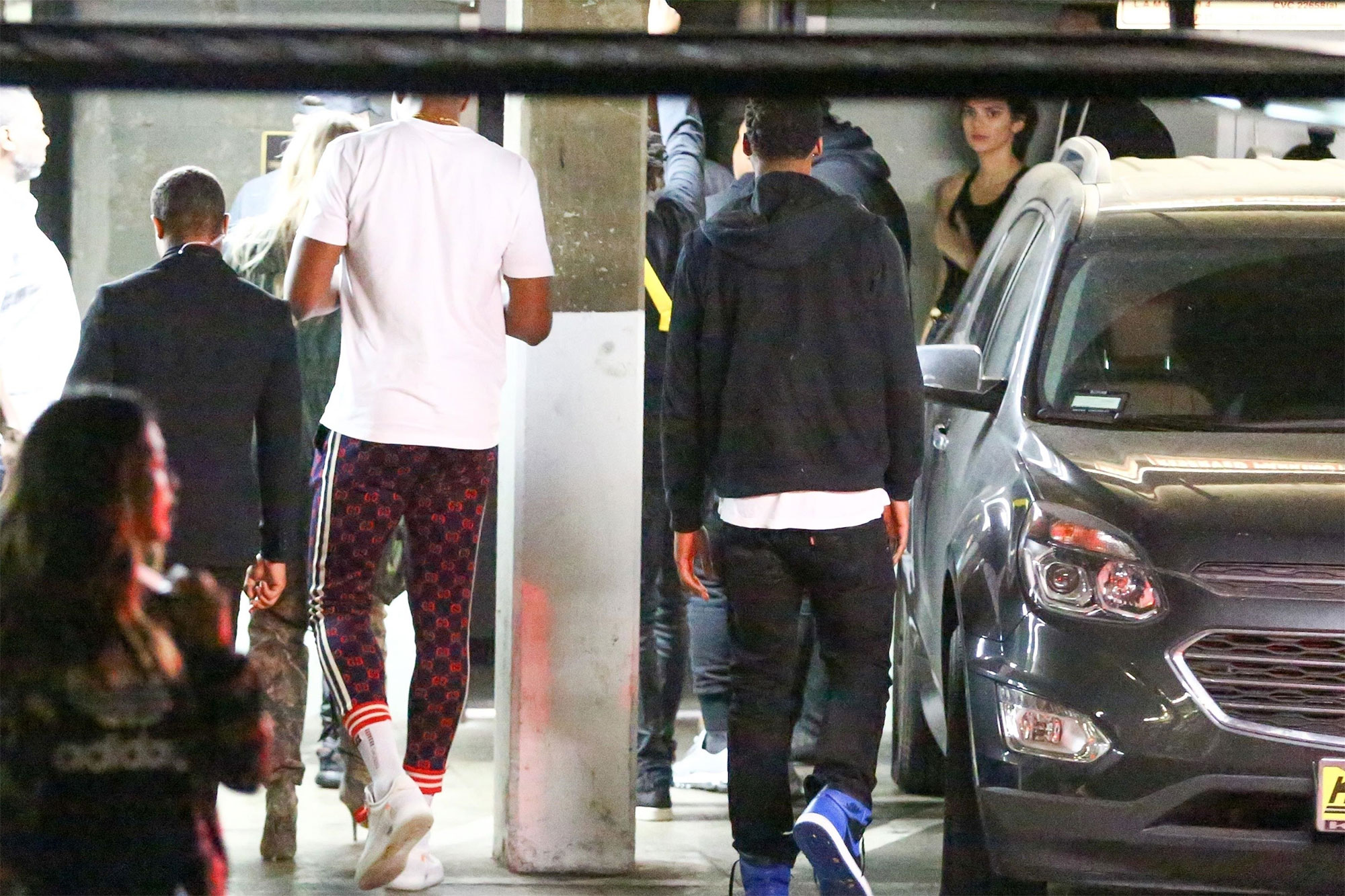 Kendall Jenner and Ben Simmons were seen arriving at Poppy nightclub with Khloe Kardashian and Tristan Thompson