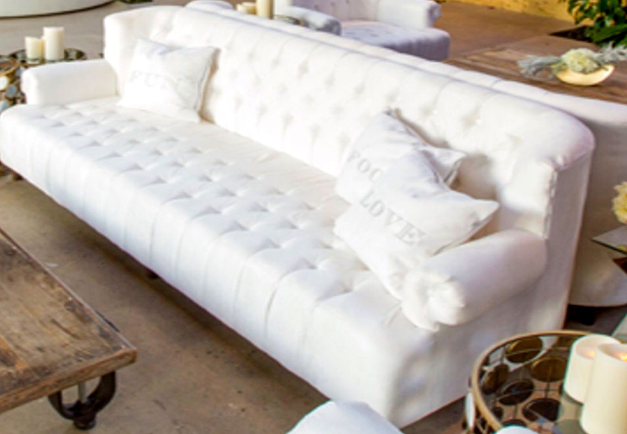 Khloe Kardashian couch with pillow