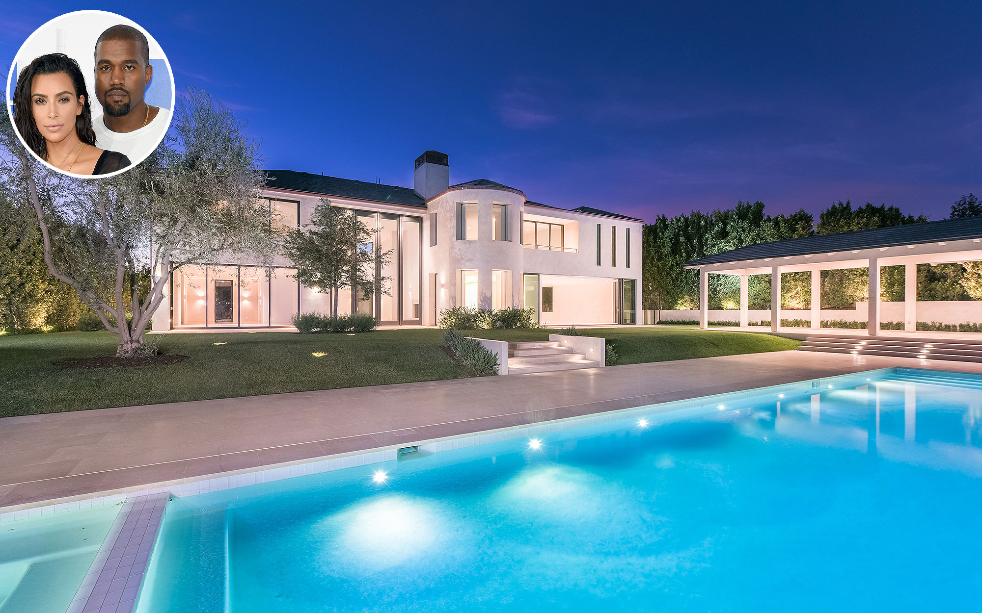 Kim Kardashian and Kanye West's Bel-Air Mediterranean Turned Modern