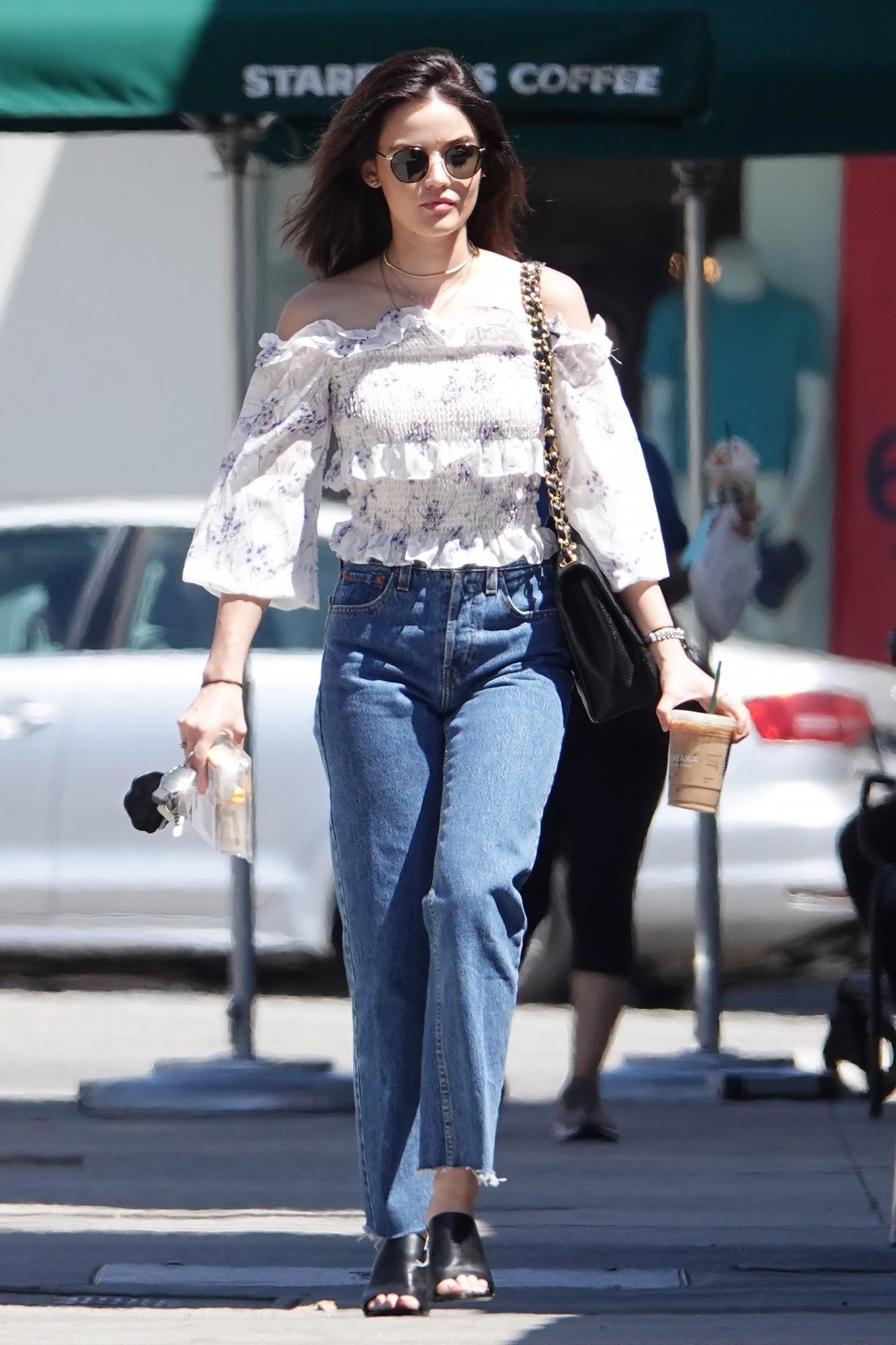EXCLUSIVE: Fashion Icon And Actress Lucy Hale Is Seen Out And About In Los Angeles