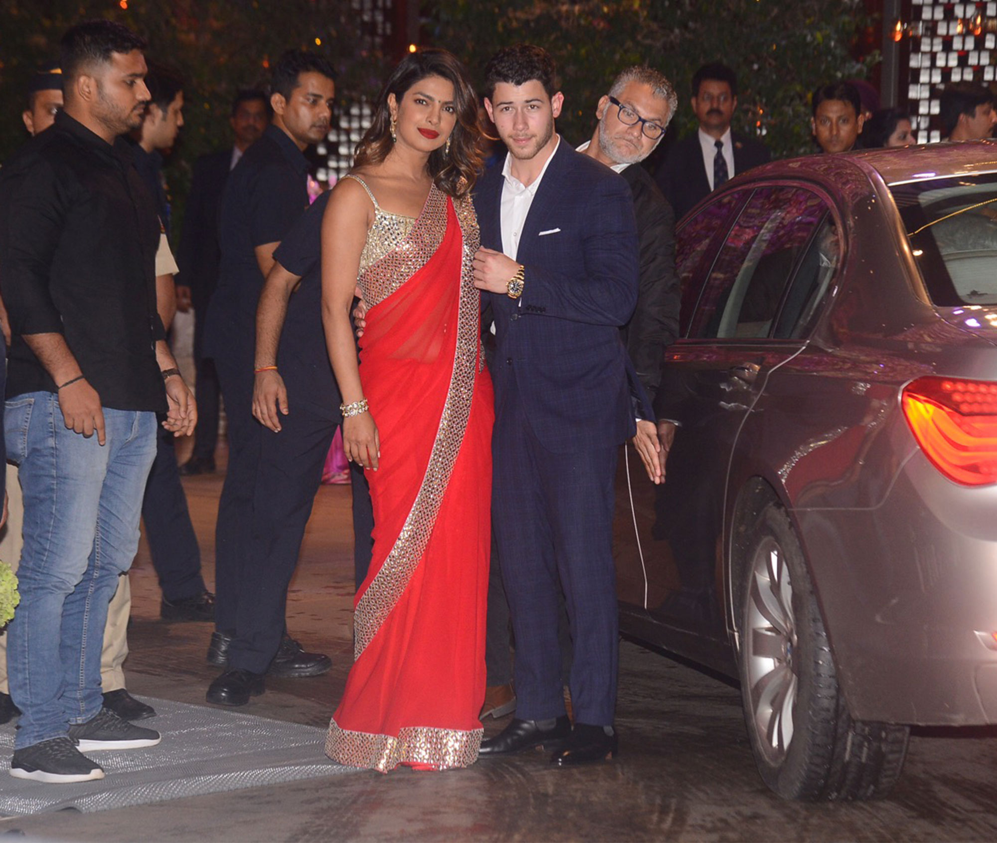 Priyanka Chopra and Nick Jonas head to friend's engagement party