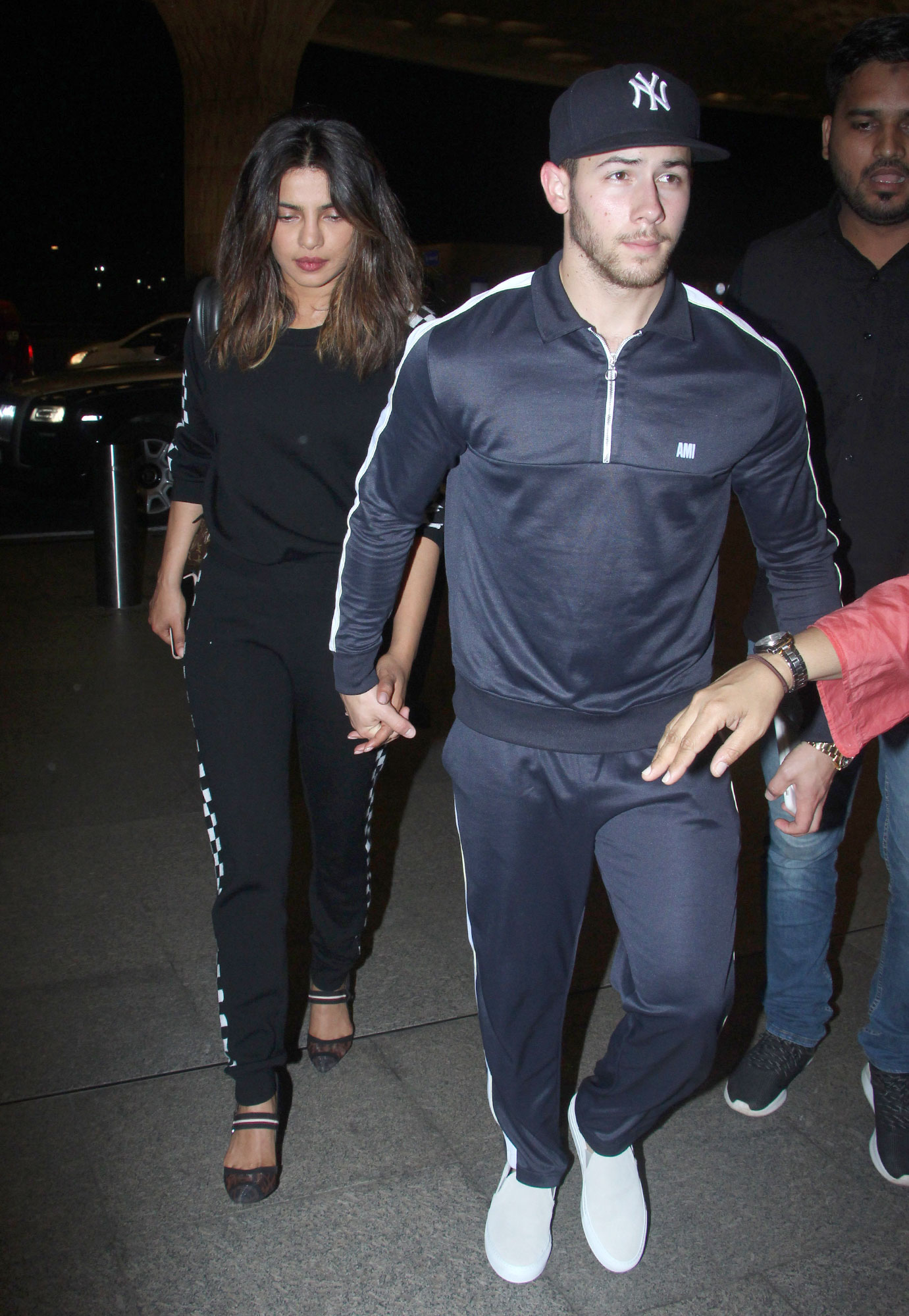 EXCLUSIVE: Priyanka Chopra and Nick Jonas leave Mumbai airport