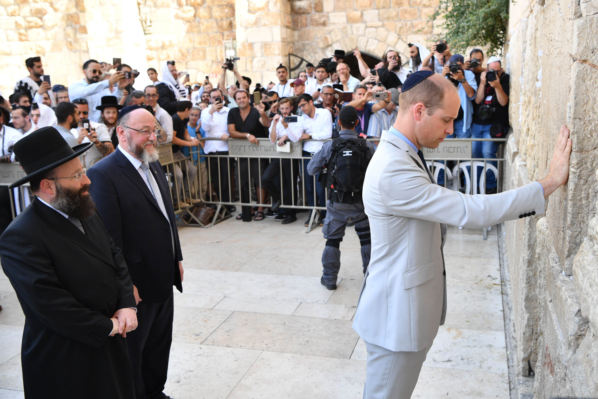 Prince William Middle East Tour, Palestinian Territories - 28 Jun 2018