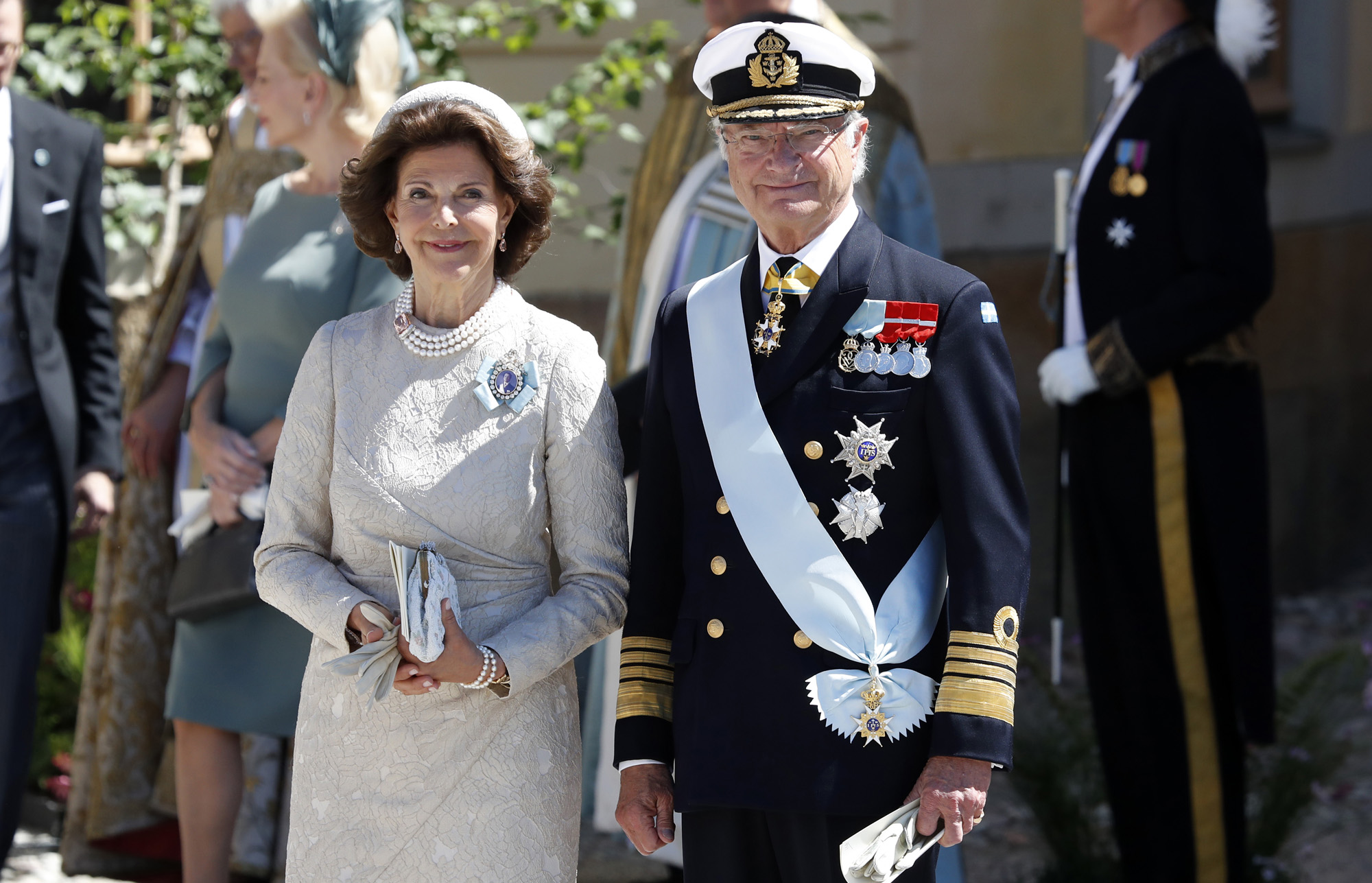 Christening  Of Princess Adrienne Of Sweden