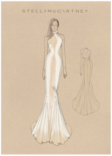 meghan markle second wedding dress sketch people com meghan markle second wedding dress