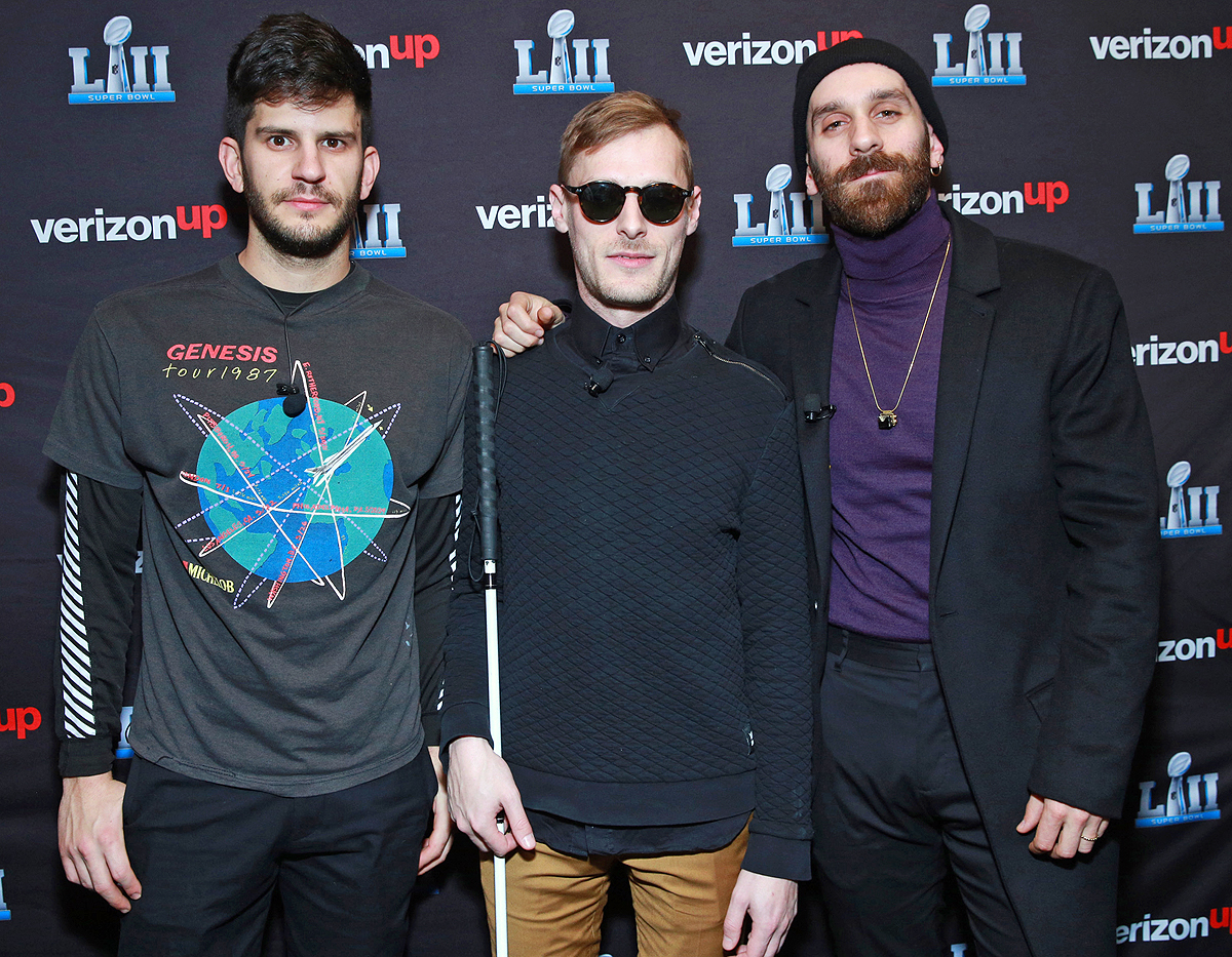 X Ambassadors perform on the Verizon Up Stage at Super Bowl LIVE