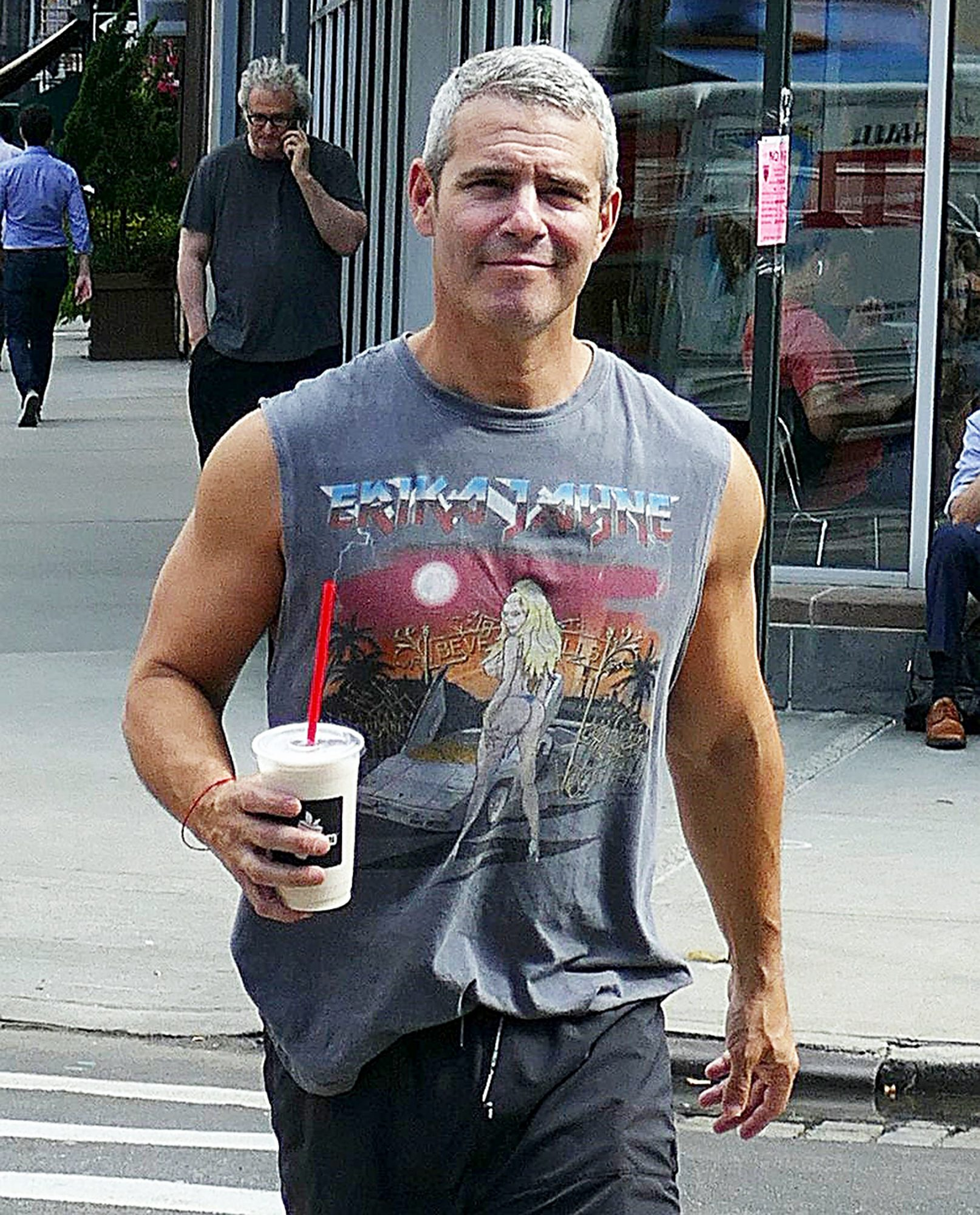 EXCLUSIVE: Andy Cohen Shows Off His Fit Figure While Leaving The Gym In New York