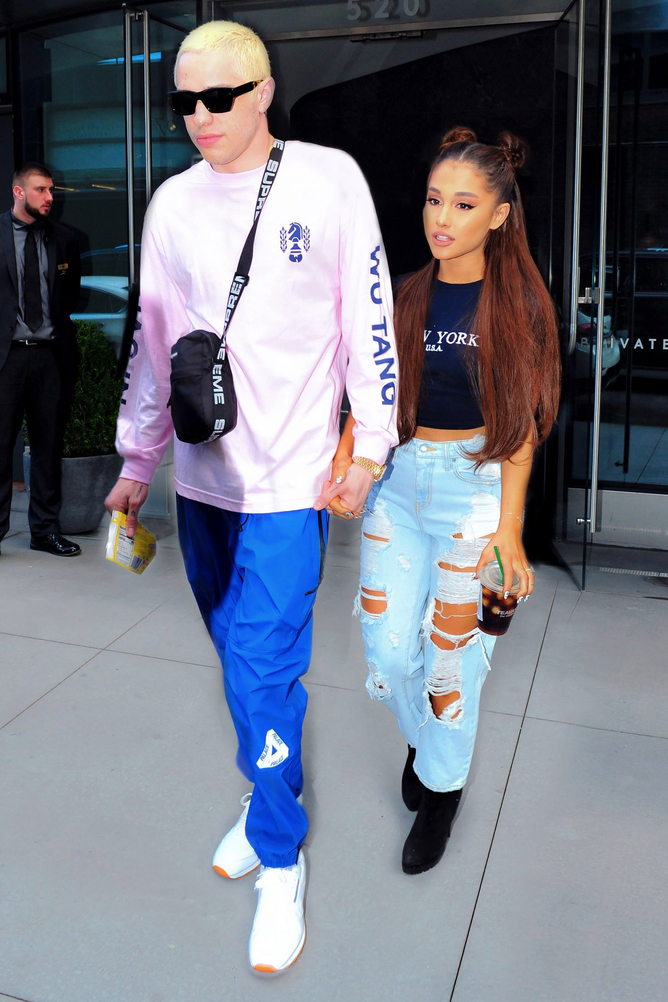 Ariana Grande and Pete Davidson look striking as they step out for concert in Brooklyn
