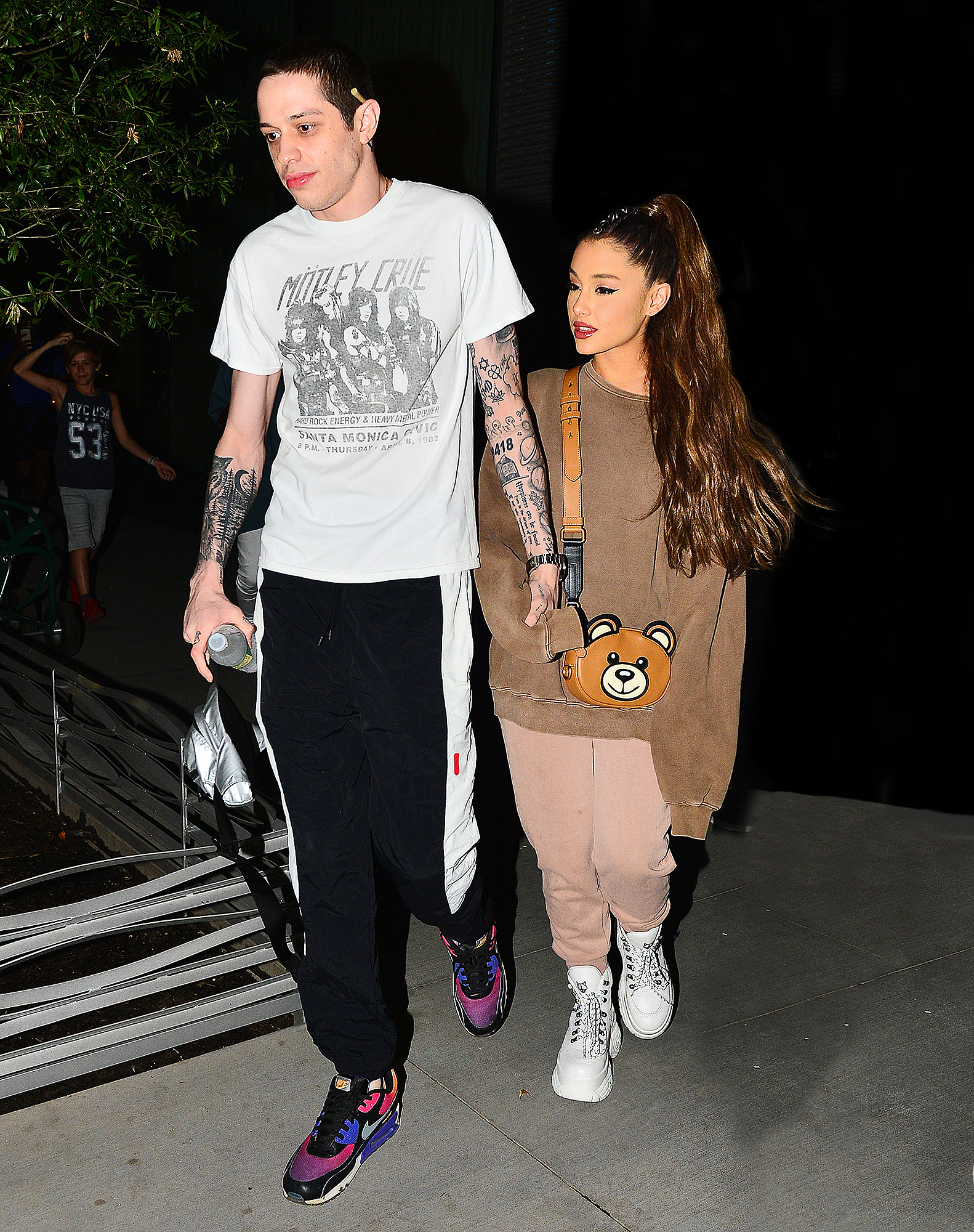 EXCLUSIVE: Ariana Grande And Pete Davidson Head Out For A Late Night Romantic Drive In His Mercedes Benz In New York City
