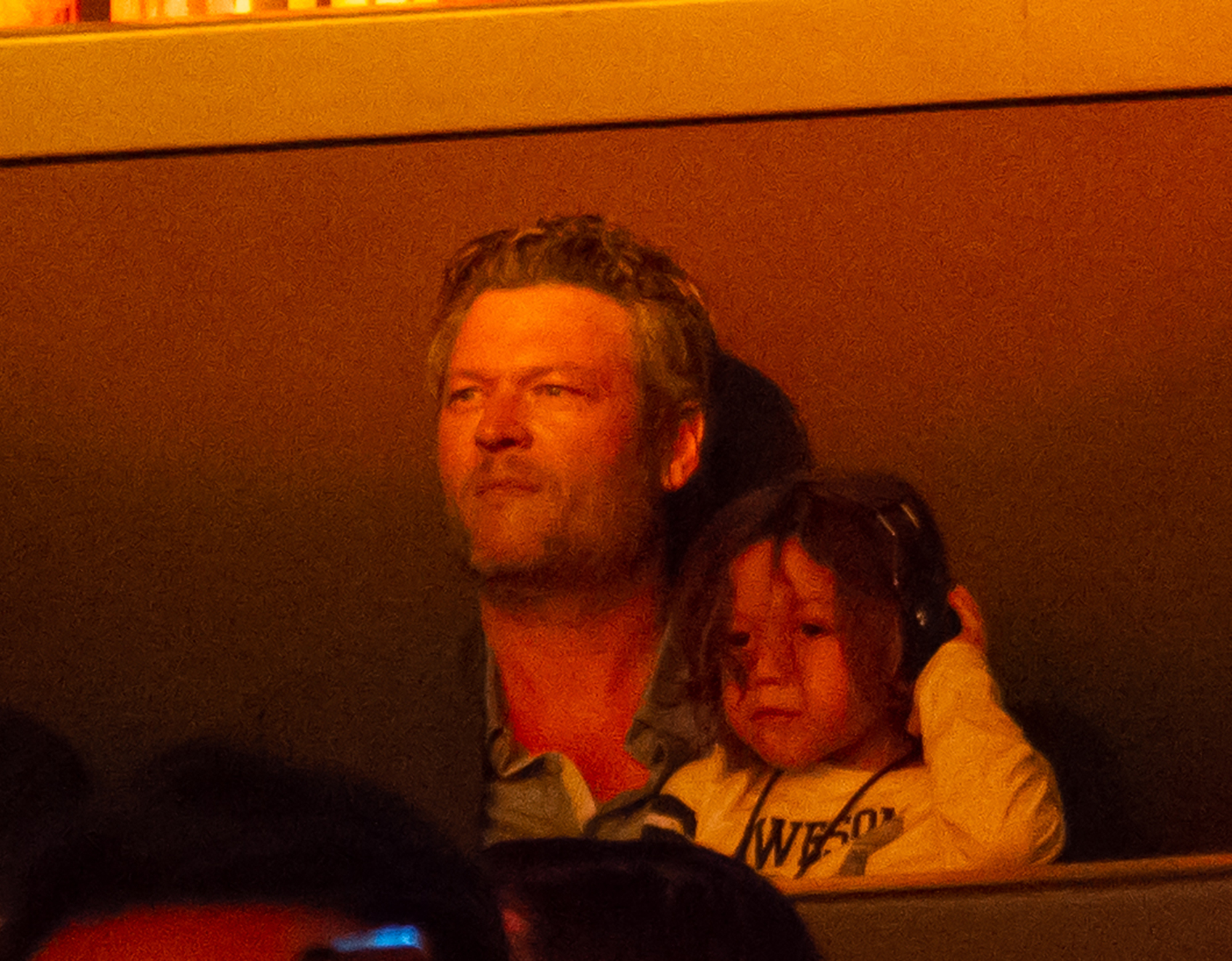 Blake Shelton And Gwen Stefanis Son Apollo Bowie Flynn Watch Her Perform At The Grand Opening Of The Gwen Stefani Just a Girl Residency At Planet Hollywood Resort And Casino In Las Vegas