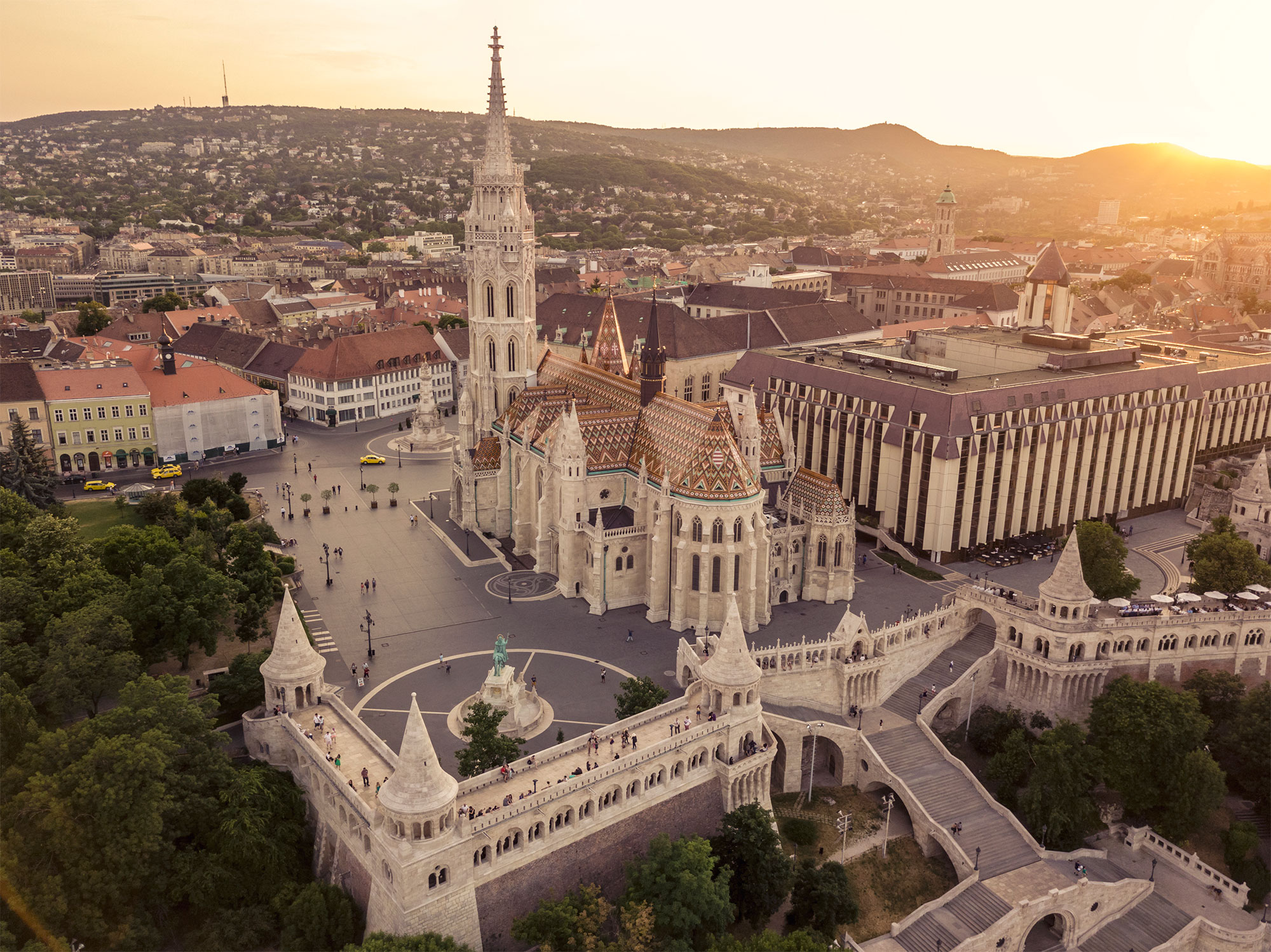 Aerial view from Budapest