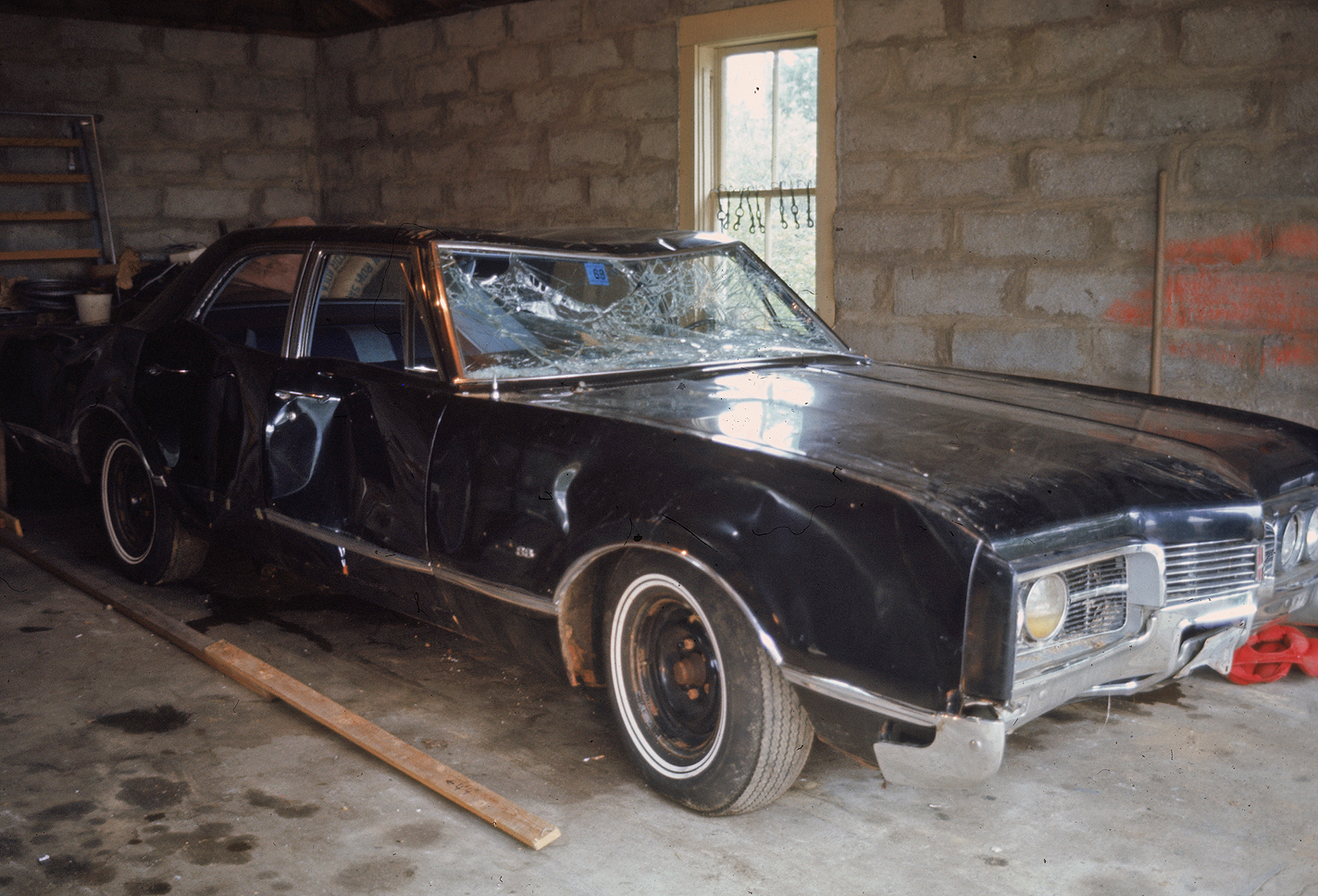 Kennedy's Car After Chappaquiddick Accident