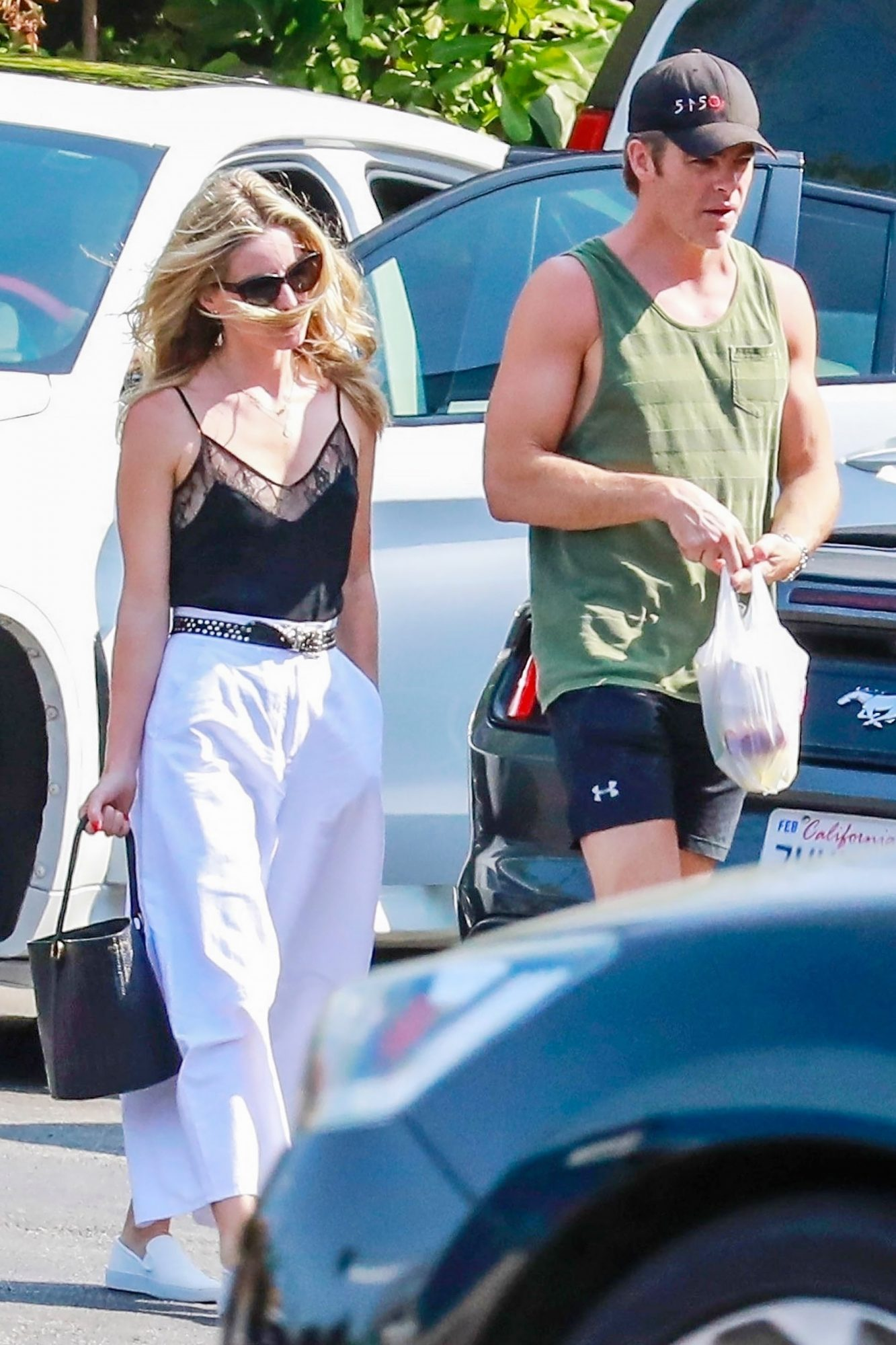 *EXCLUSIVE* Chris Pine and Annabelle Wallis spotted on a fast food run