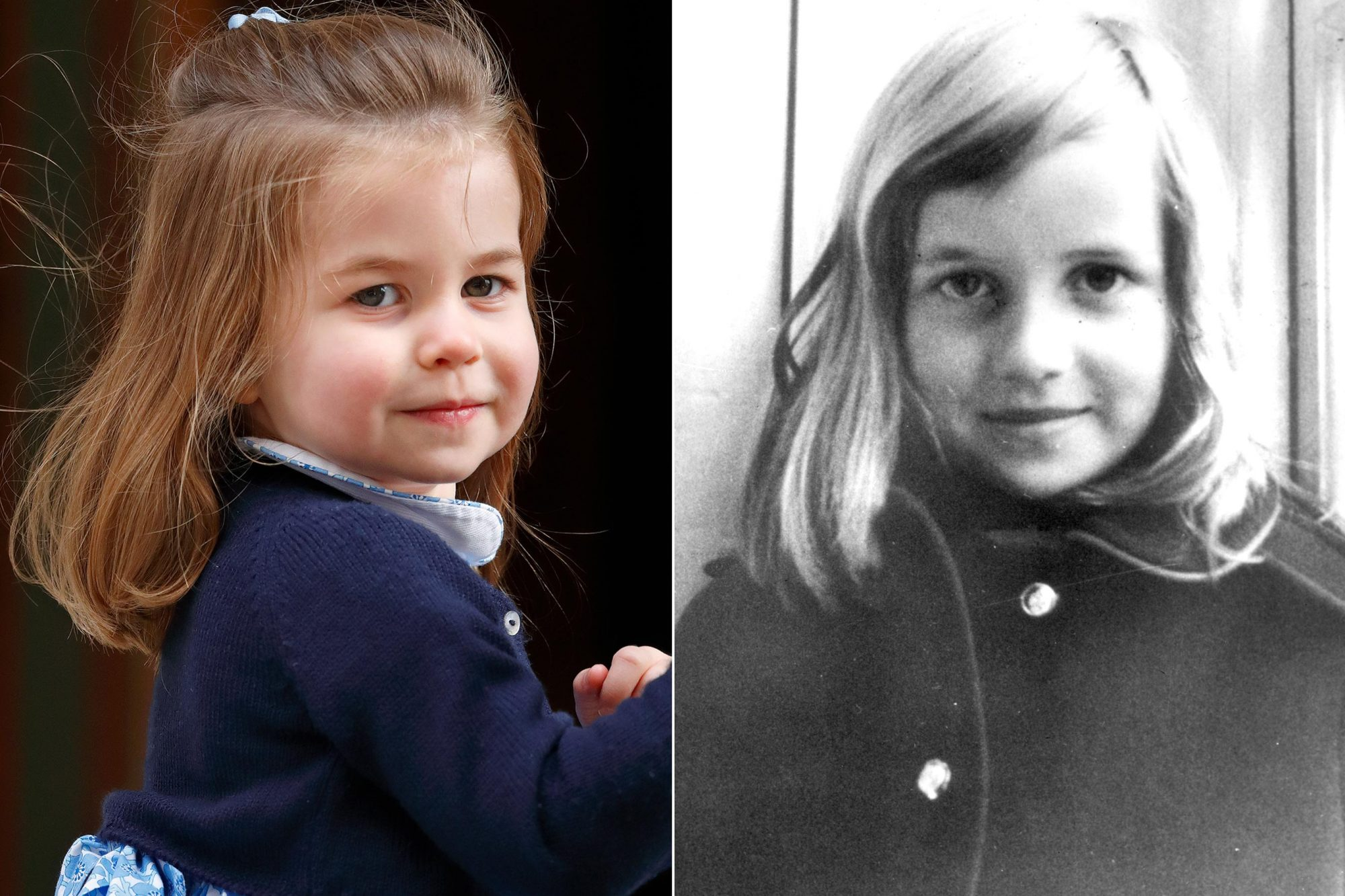 Princess Charlotte and young Lady Diana Spencer