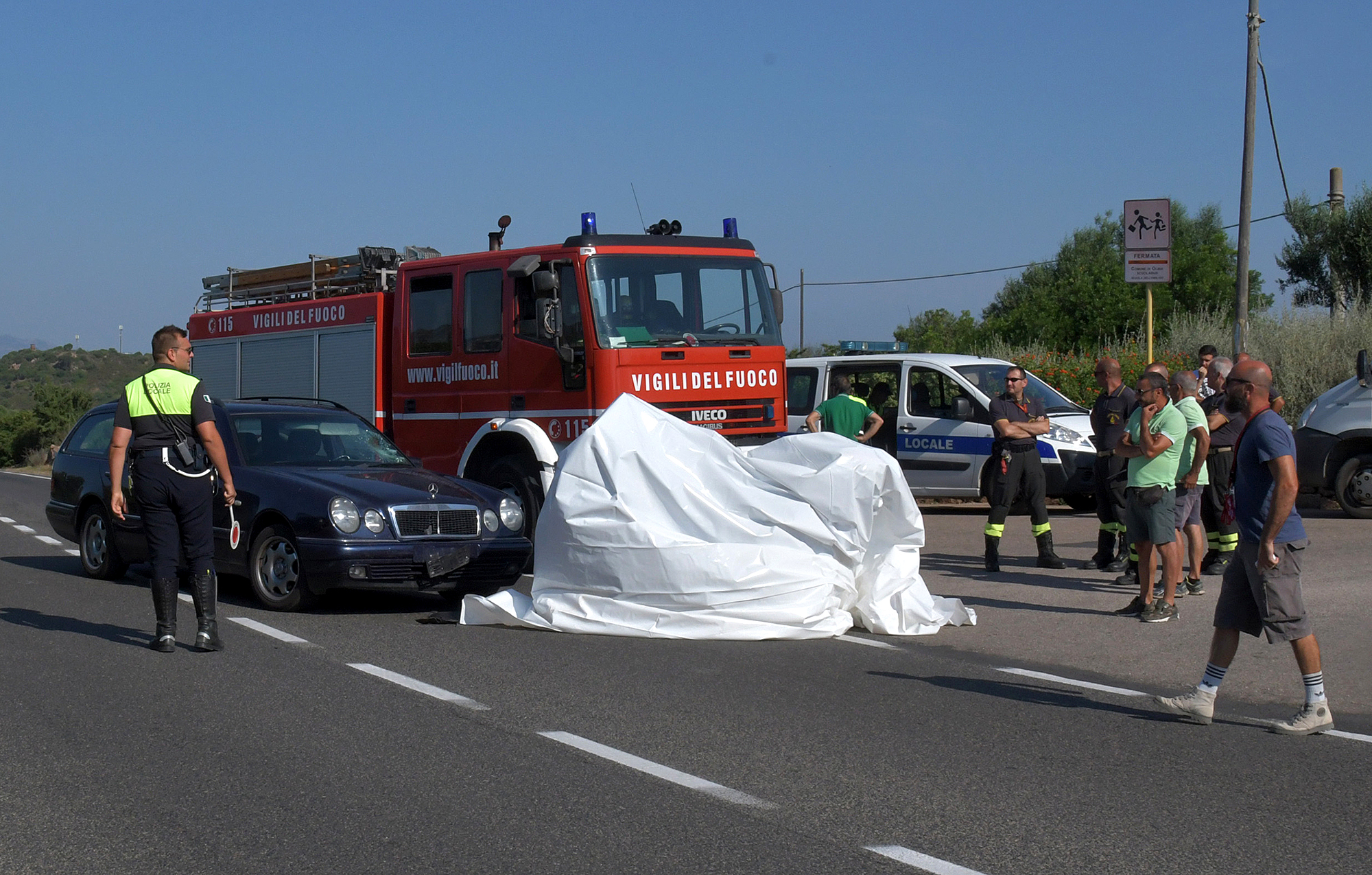Scene of George Clooney accident in Italy