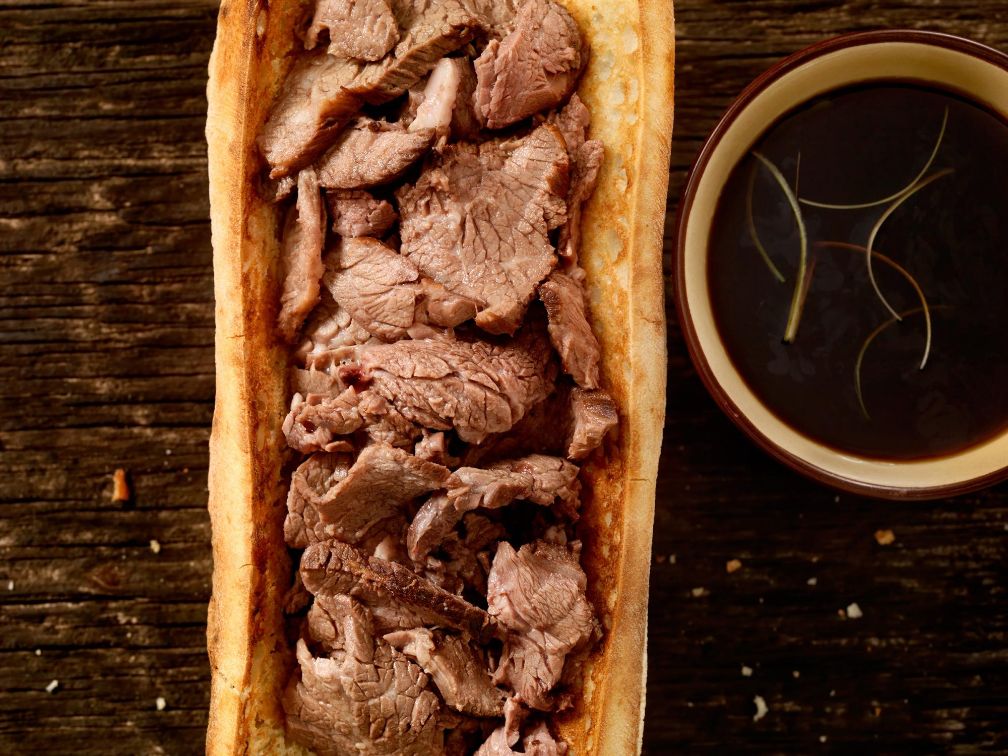 Philly Steak Sandwich with Au Jus