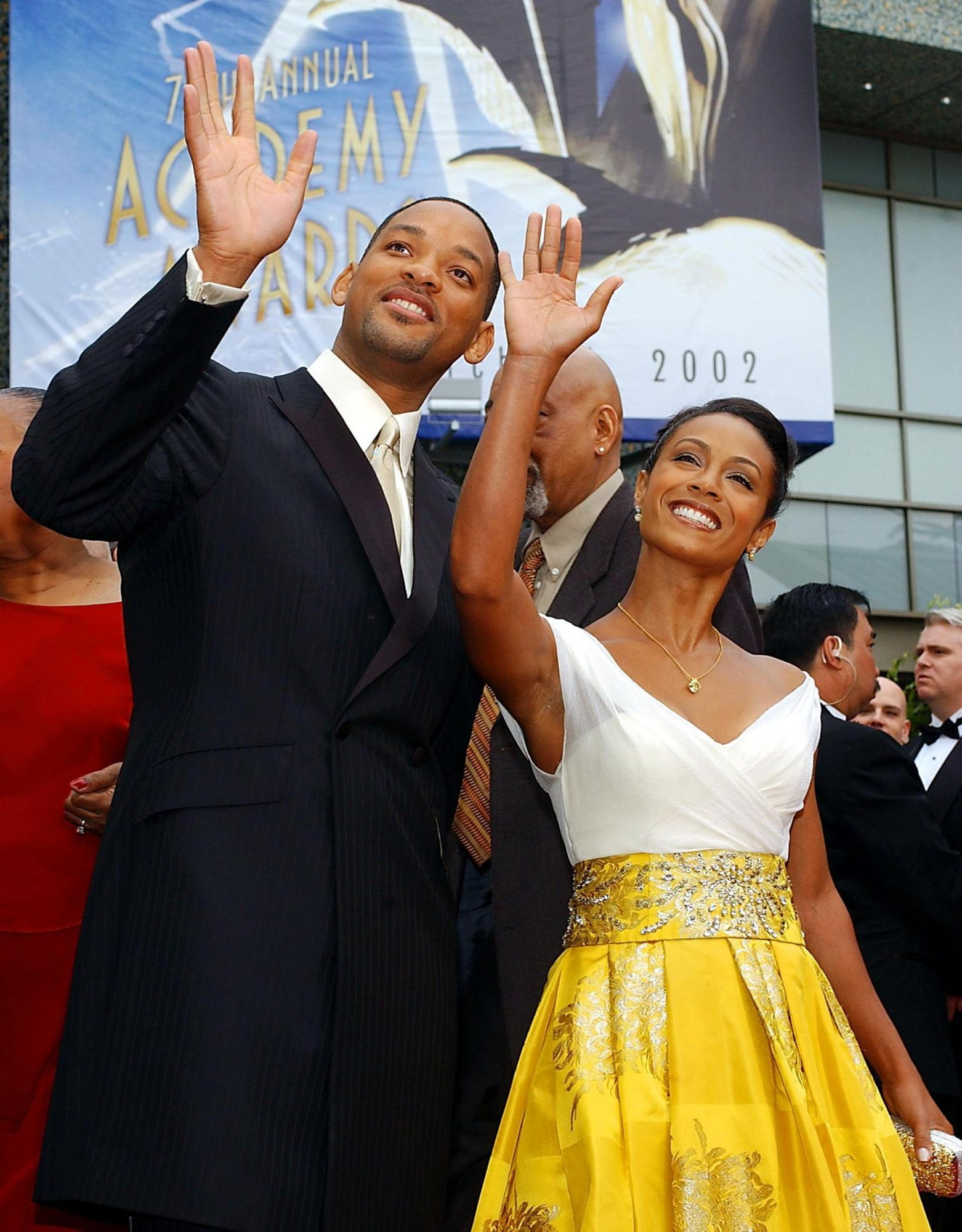 US actor Will Smith (L) and wife Jada Pinkett Smit