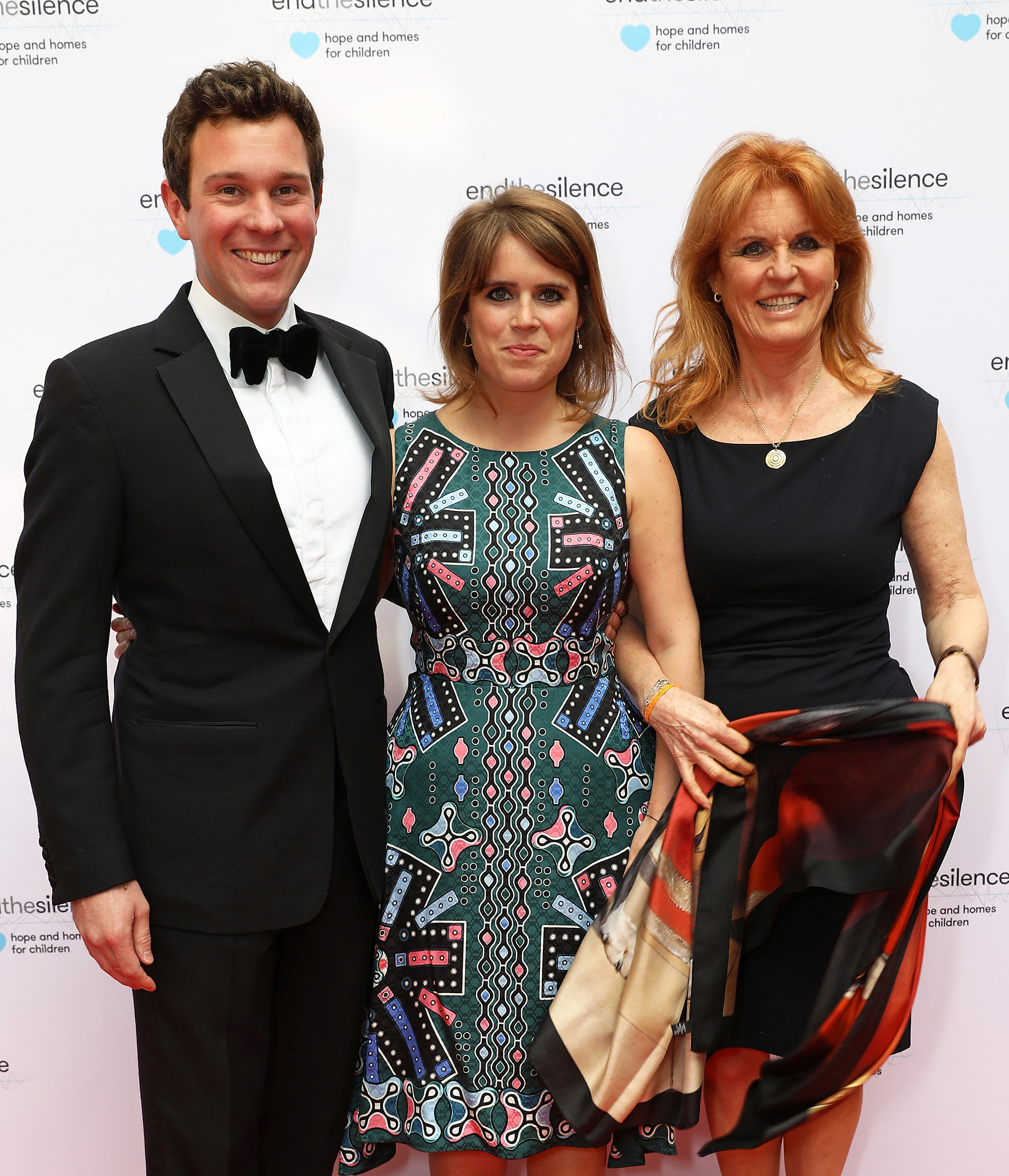 Sarah, Duchess of York, Princess Eugenie and Jack Brooksbank