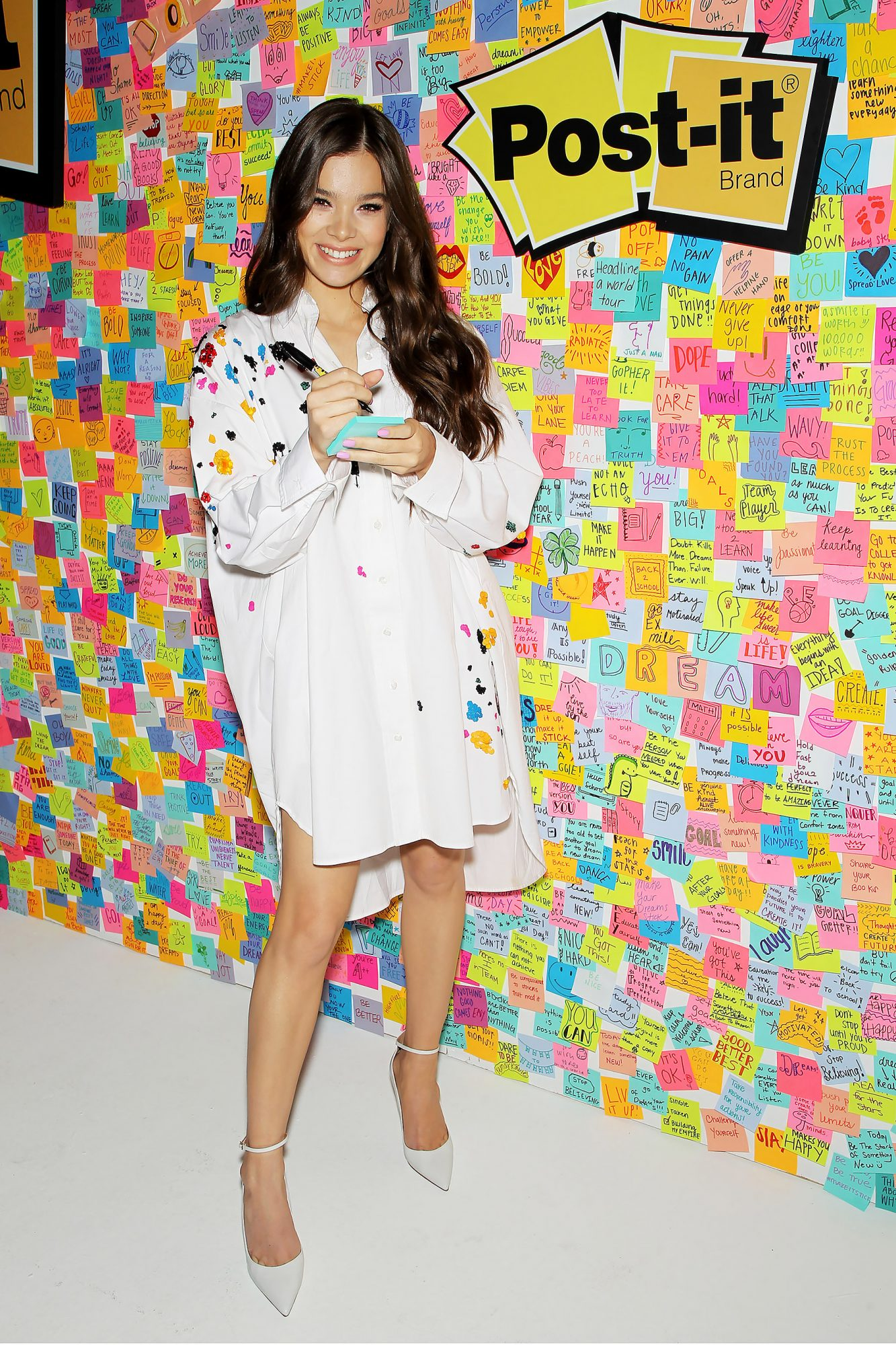Hailee Steinfeld and Post-it Brand Inspire Students to Make Dreams Stick, New York, USA - 23 Jul 2018