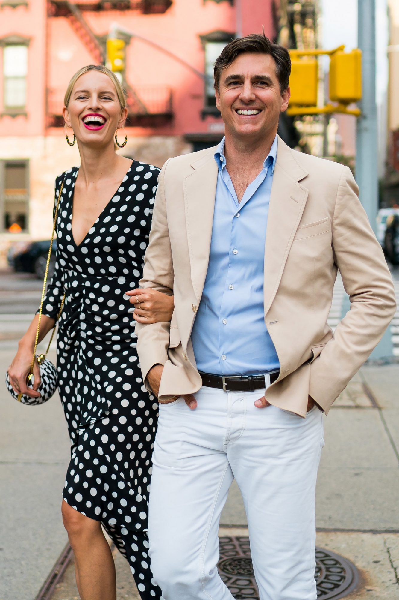 EXCLUSIVE: Karolina Kurkova And Archie Drury Out For A Stroll In New York City