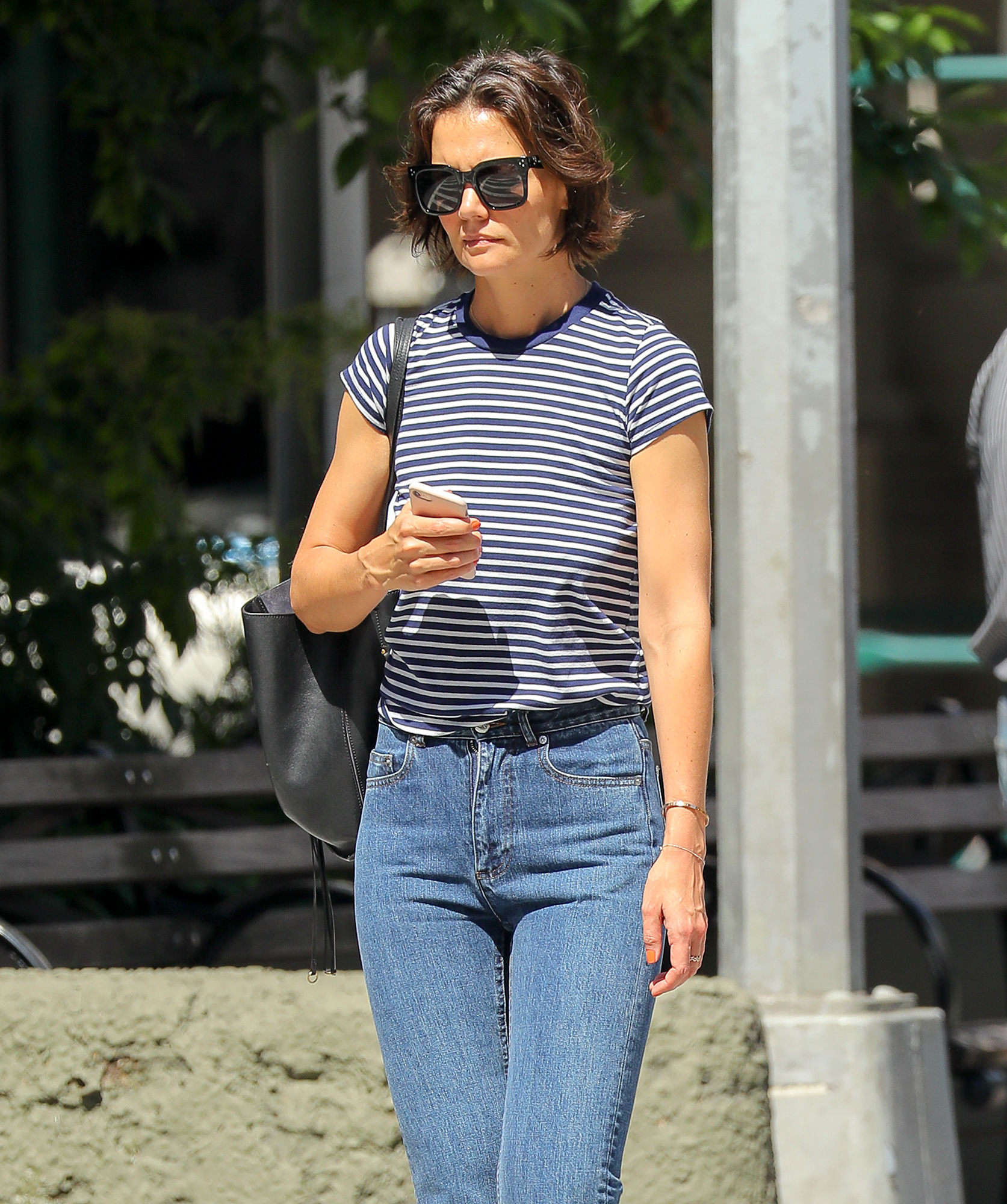 Katie Holmes was spotted taking stroll around after split from Jamie Foxx