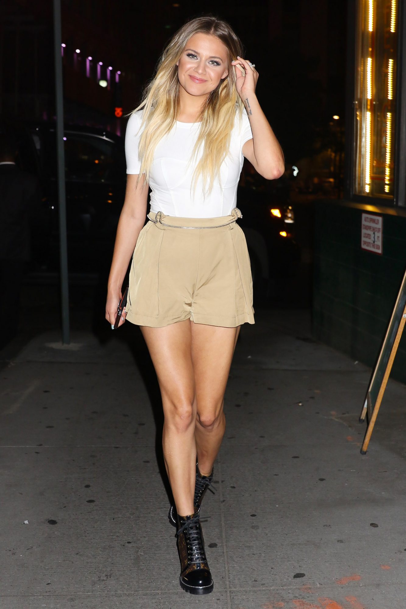Kelsea Ballerini is Pictured Exiting Nobu Downtown in New York City