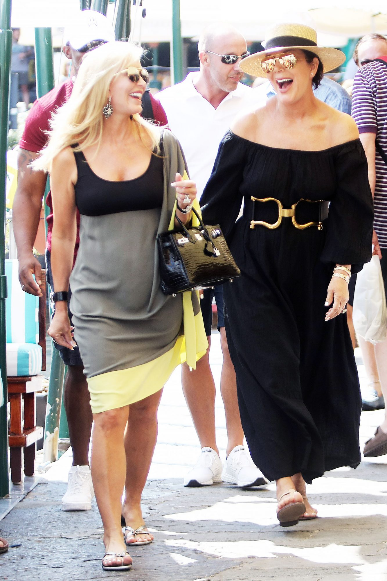 Kris Jenner and Corey Gamble are Spotted on Vacation in Portofino, Italy.