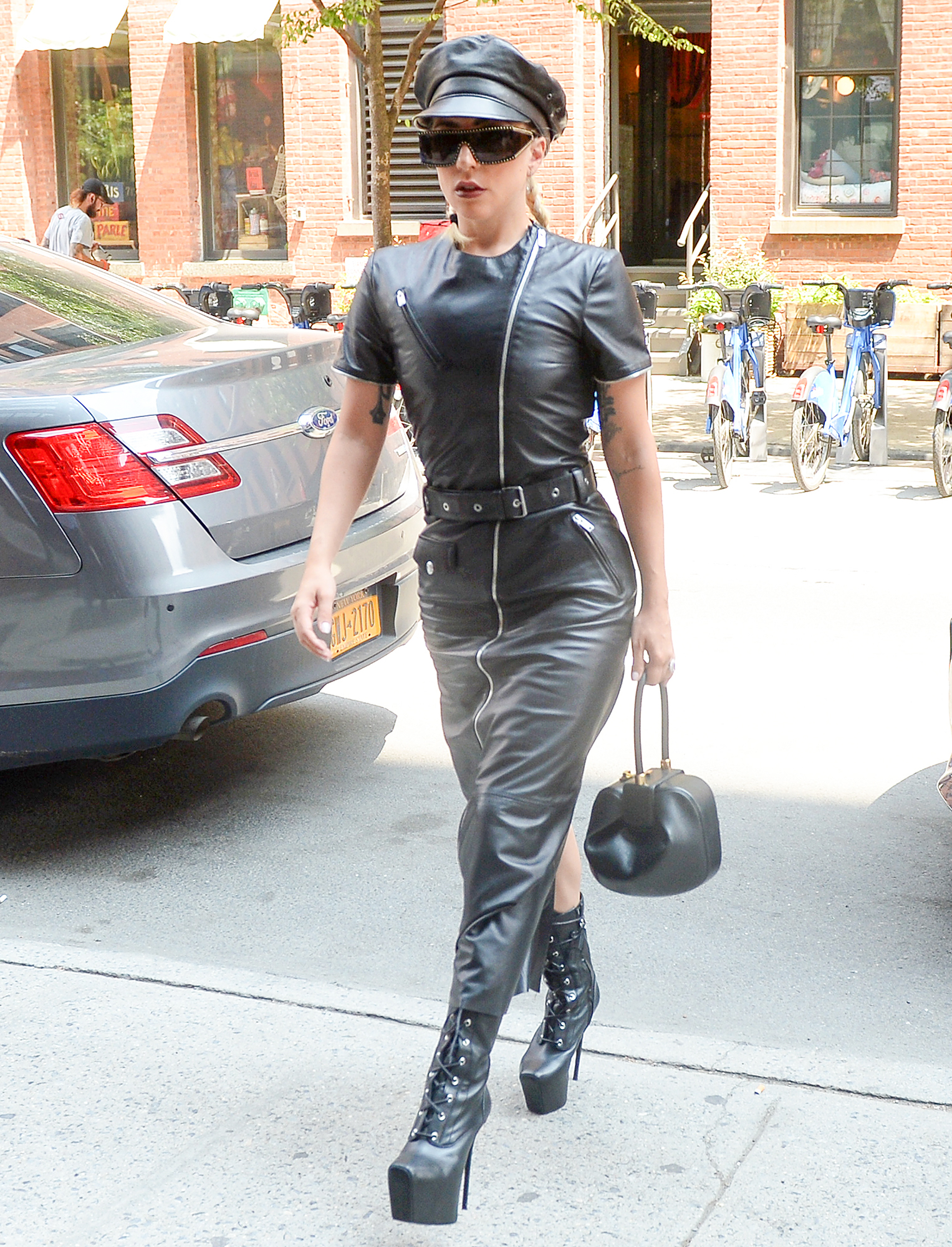 Lady Gaga Is Seen Arriving At A Photoshoot Studio In New York