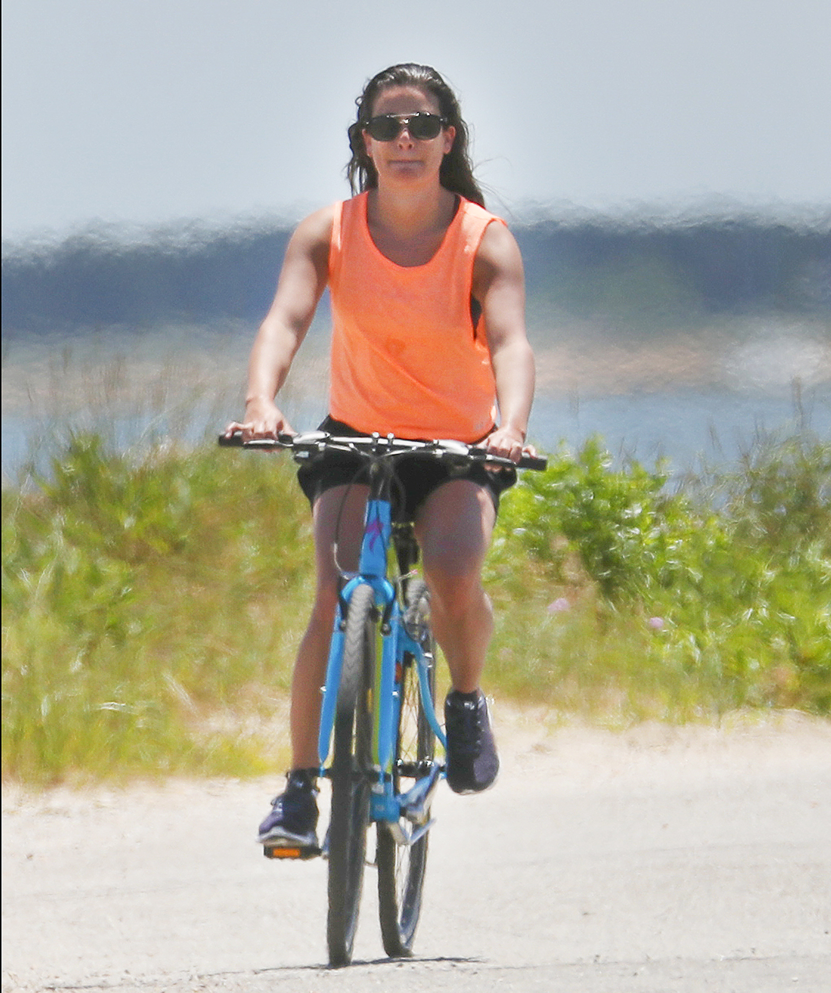 EXCLUSIVE: Lea Michele and Zandy Reich Head Out for a Beach Bike Ride in the Hamptons.