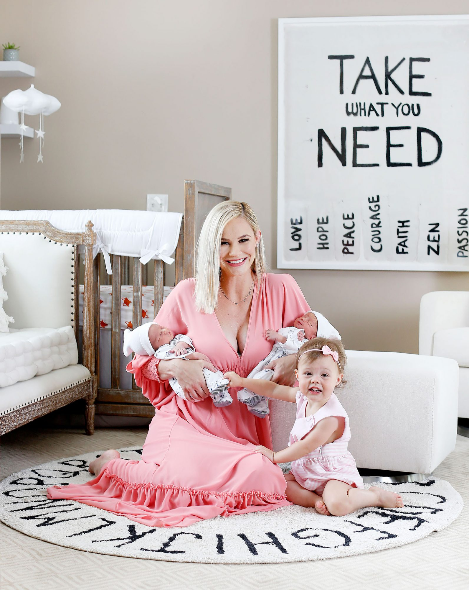 **EXCLUSIVE**  Photo Credit: MOVI Inc.   Date: June 20th 2018 FOR GLOBAL SALES CALL (U.S) 310 739 4693 OR EMAIL contact@movi-inc.comPrecious Cargo! Meghan King Edmonds looks flawless as she proudly shows off her almost two-week-old twin boys, Hayes and