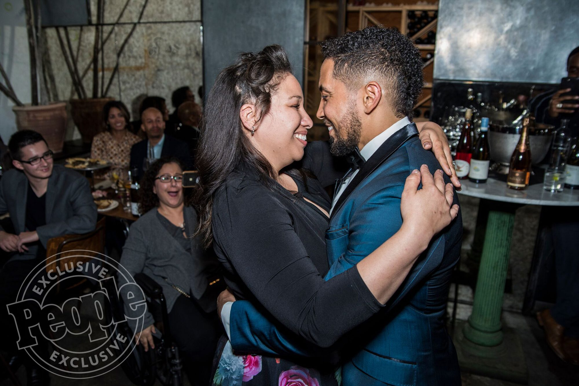 Neil Brown Jr. re-proposes to wife CatrinaCredit: Dimity Loiseau