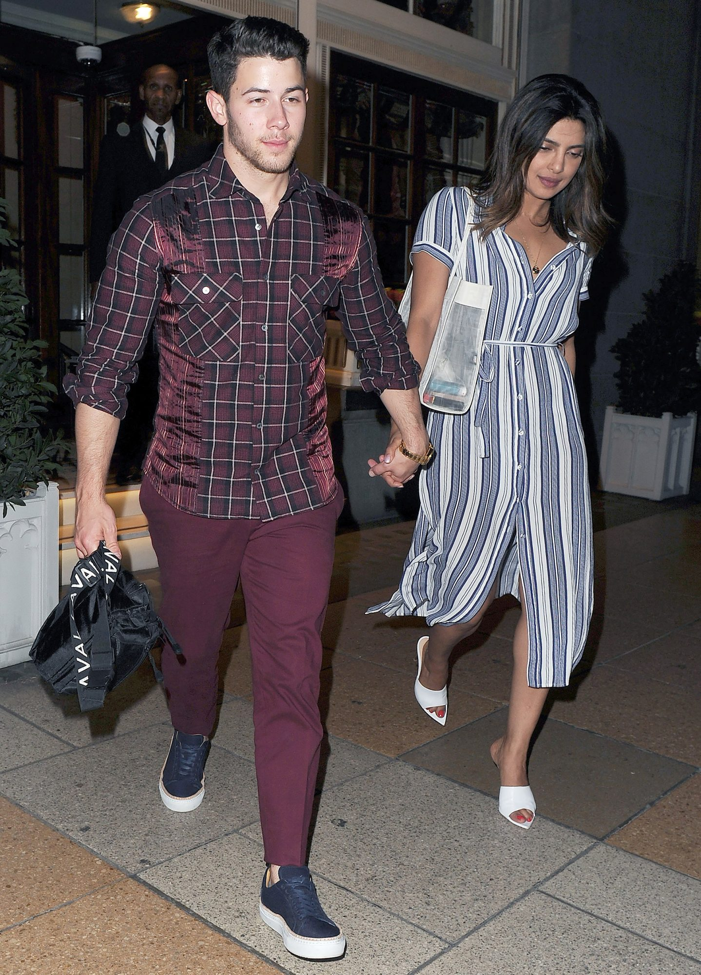 Nick Jonas and Priyanka Chopra Enjoy a Night Out at 34 restaurant, and then the Ritz Casino in Mayfair, London.