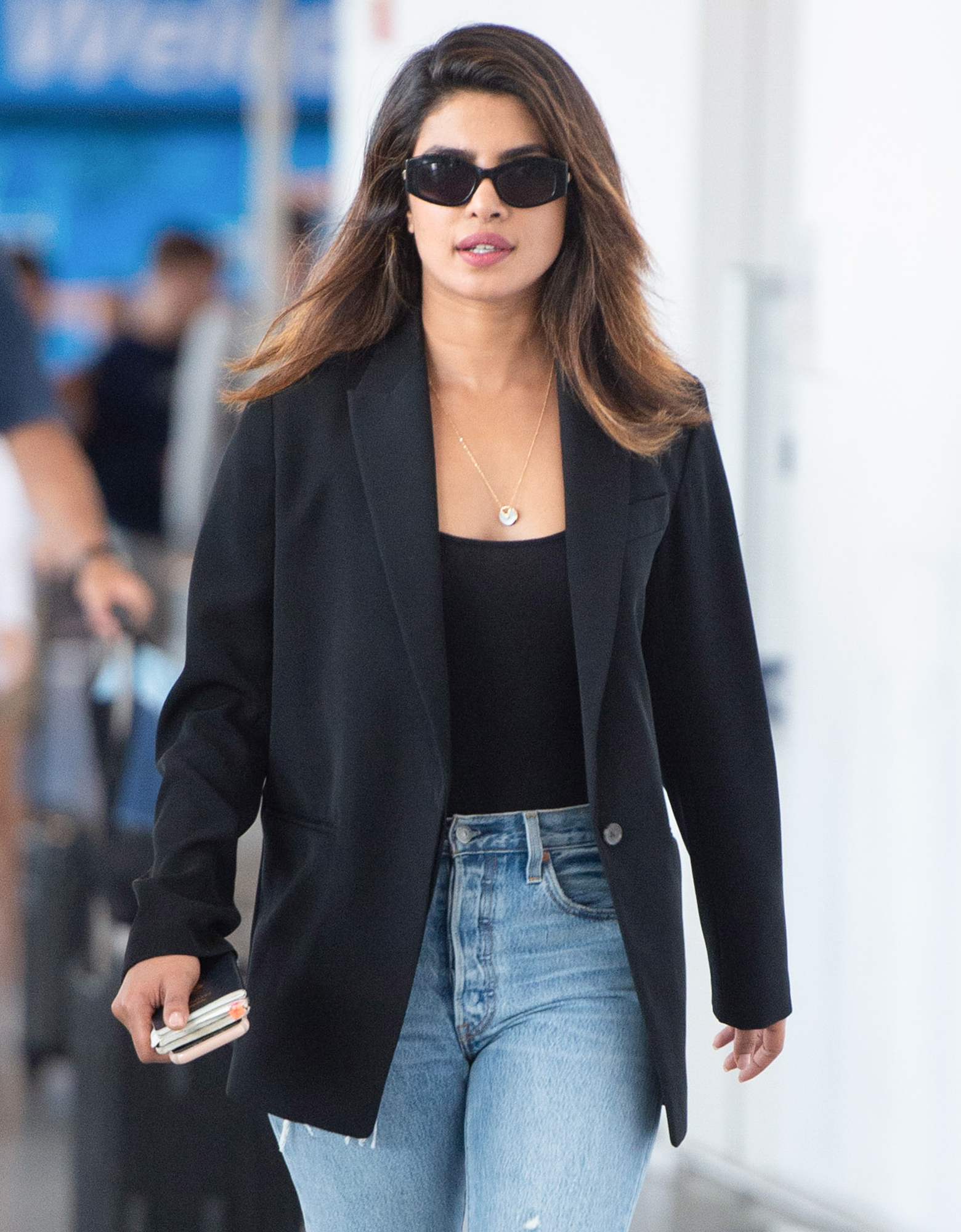 EXCLUSIVE: Priyanka Chopra Arrives At JFK Airport In New York
