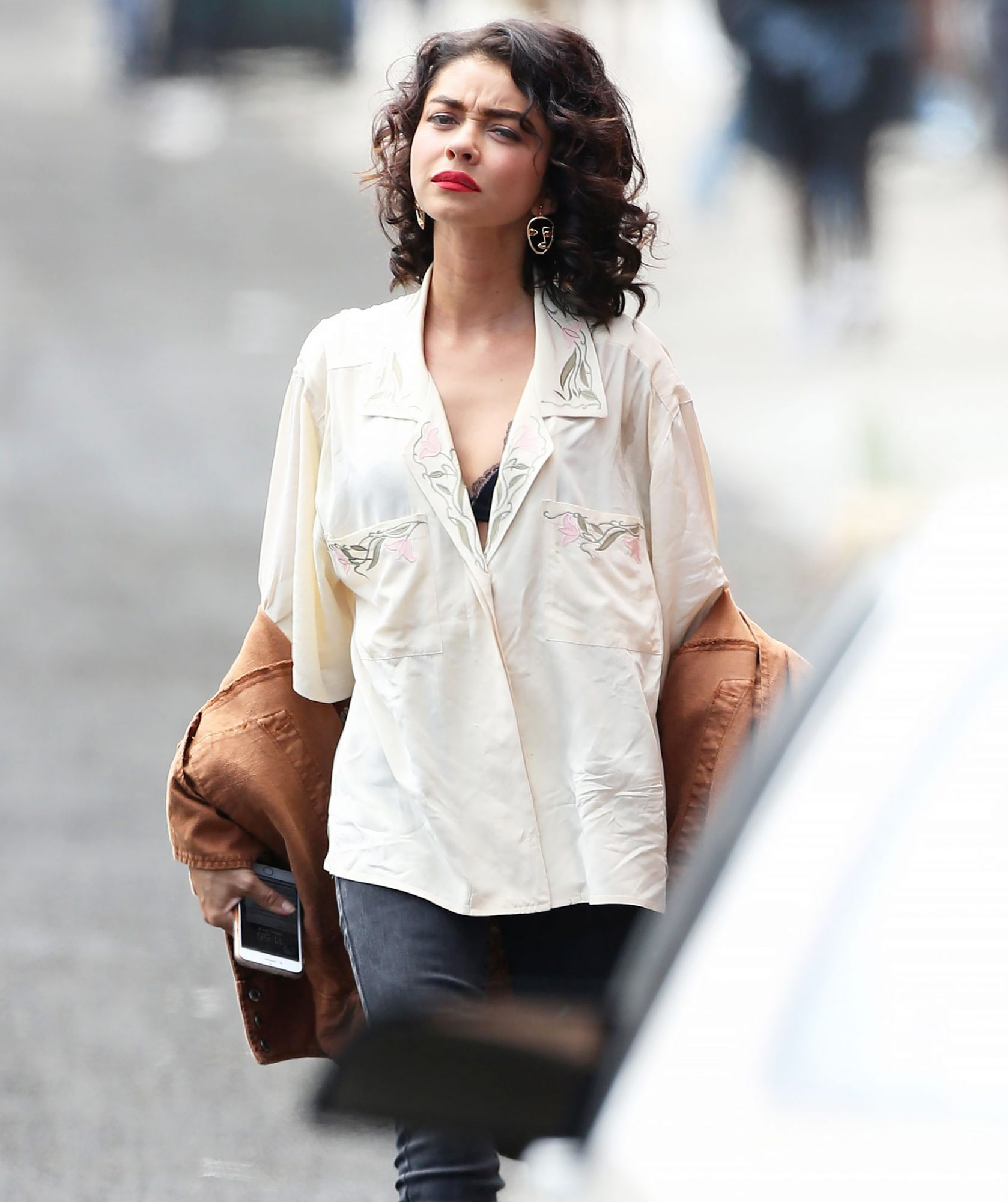 Sarah Hyland films scenes for the romantic comedy 'The Wedding Year' in Los Angeles