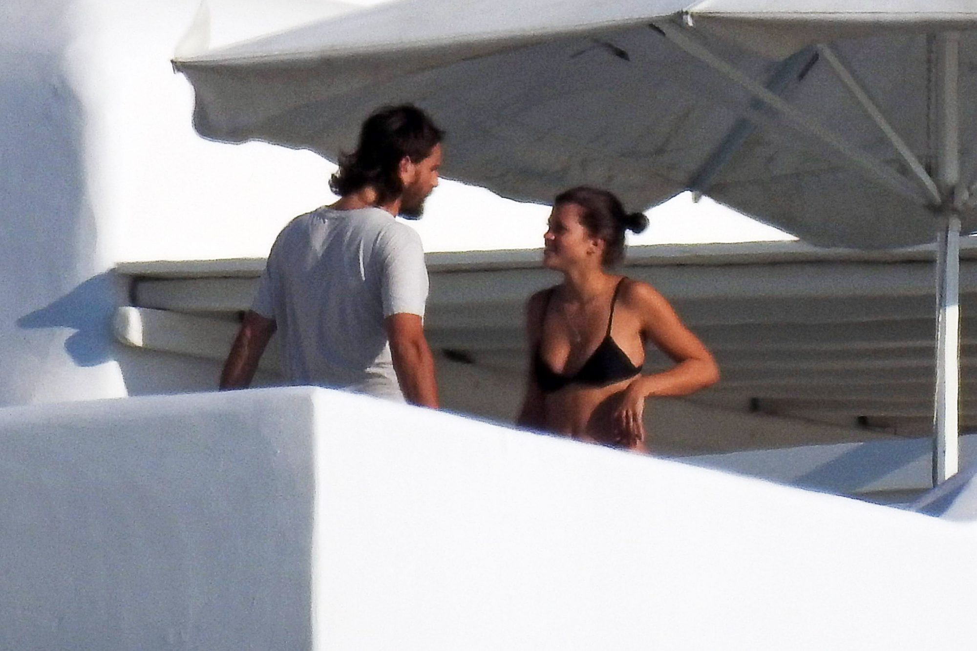 EXCLUSIVE: Scott Disick Gives Sofia Richie A Kiss In Mykonos