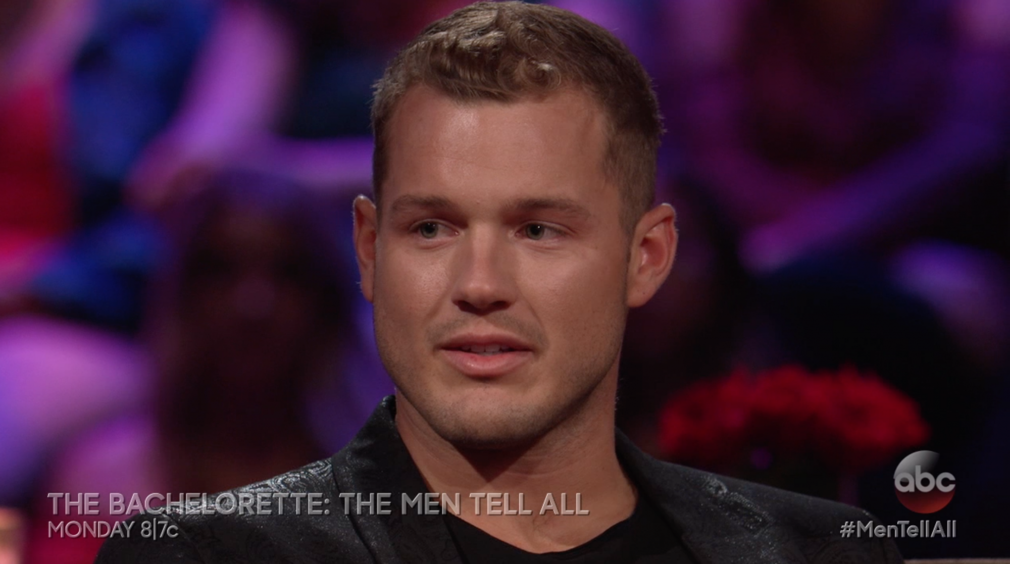 Colton Underwood at the Bachelorette: Men Tell All