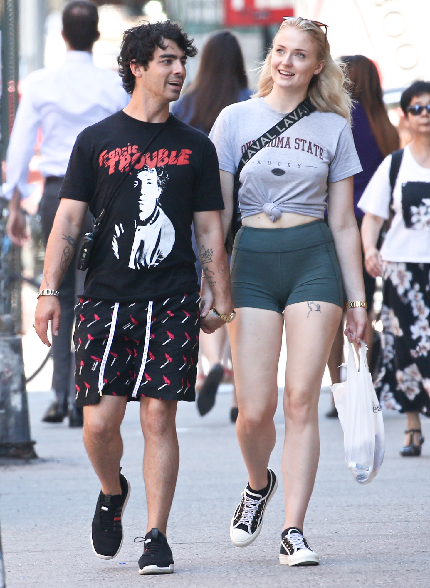 Sophie Turner and Joe Jonas are Spotted Shopping in SoHo in New York City
