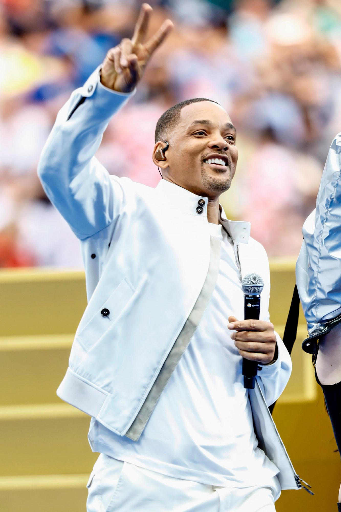 Will Smith during the closing ceremony prior to the 2018 FIFA World Cup Russia