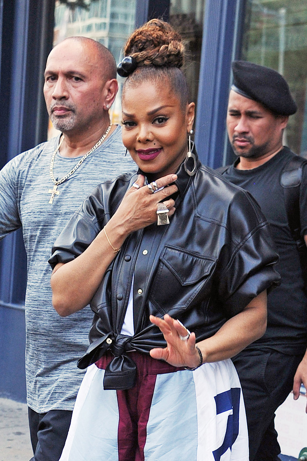 Janet Jackson is Spotted Stepping Out in New York City