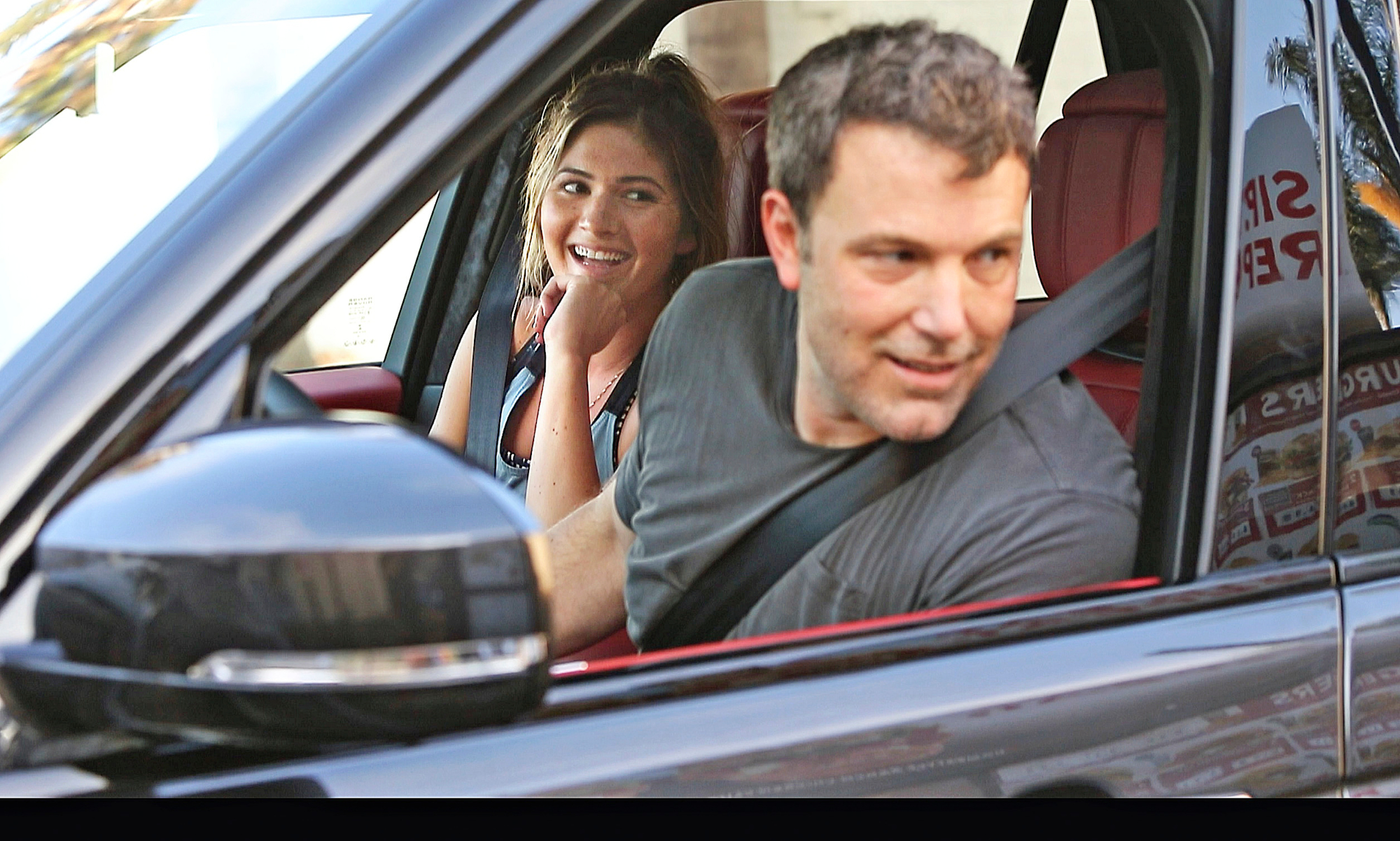 Ben Affleck is seen for the second time in 3 days with Playboy playmate Shauna Sexton as the pair are seen going thru Jack In The Box drive thru in Los Angeles.