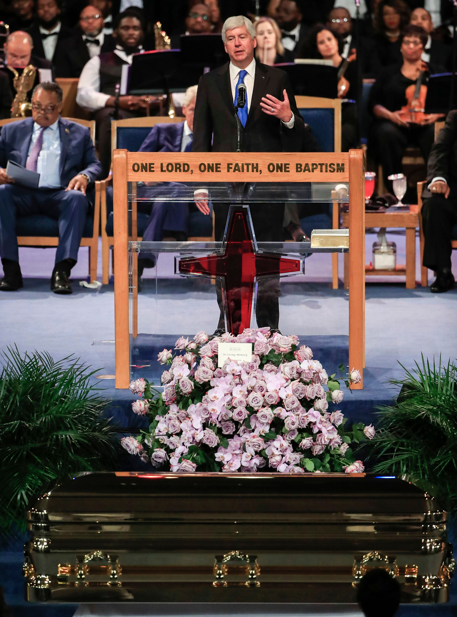 Funeral service for Aretha Franklin, Detroit, USA - 31 Aug 2018